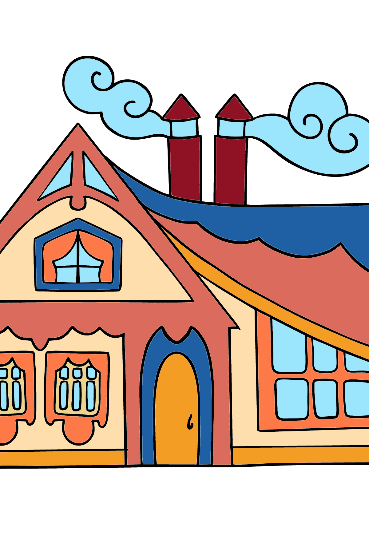 Coloring Page - A Tiny House - Coloring Pages for Children
