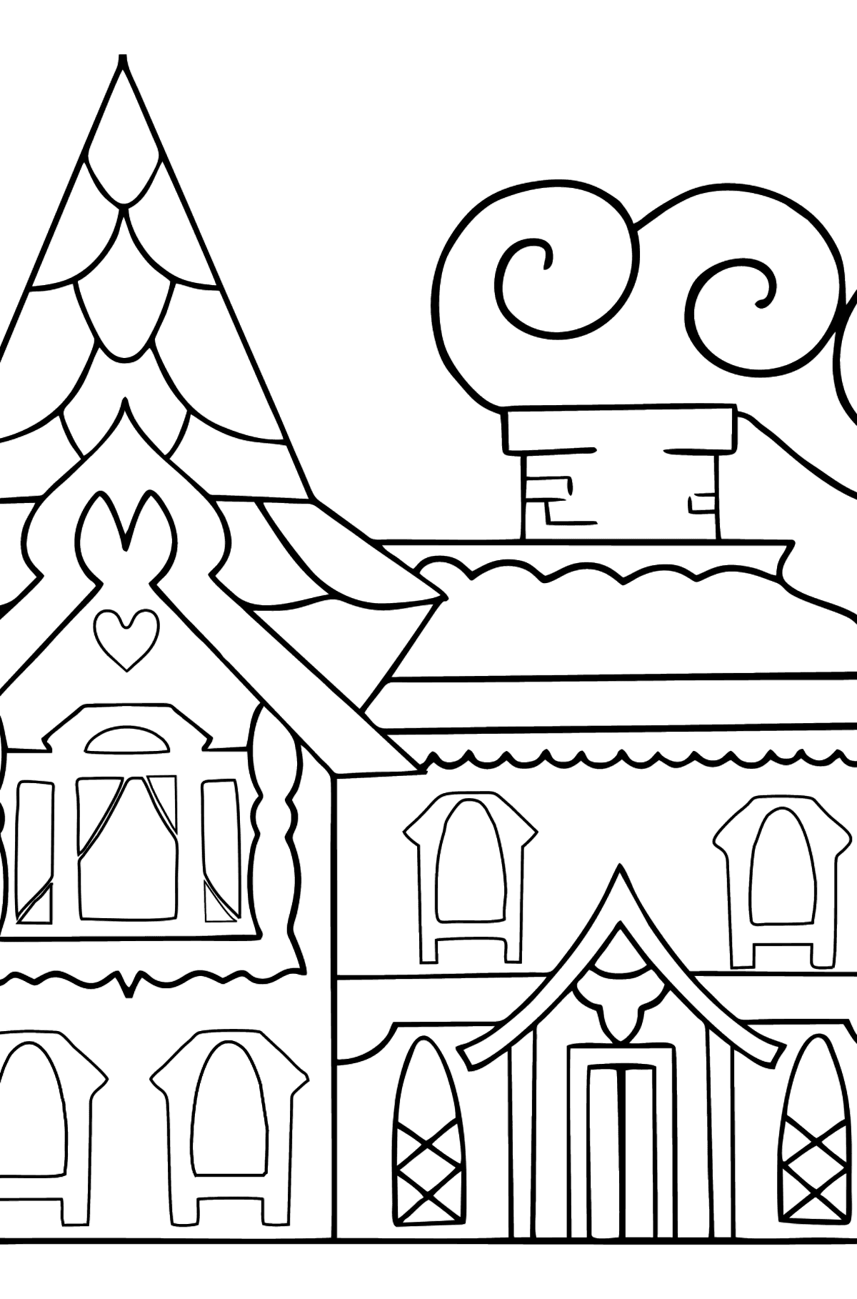 Complex Coloring Page - A House - A Kingdom of Storytellers - Coloring Pages for Kids