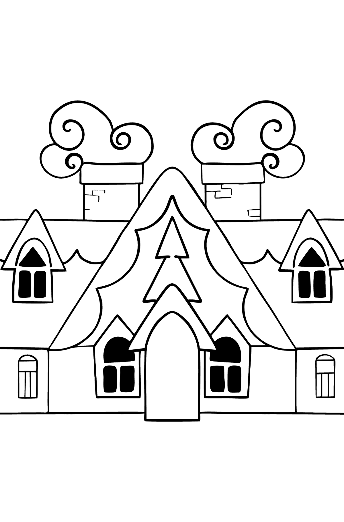 Complex Coloring Page - A Magic House - Coloring Pages for Kids