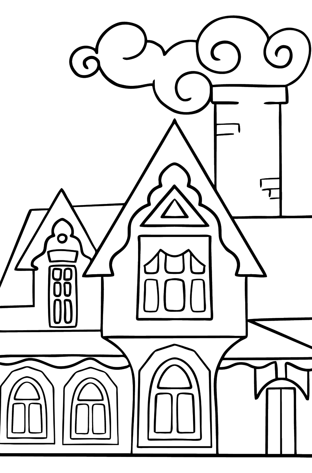 Complex Coloring Page - A Miraculous House - Coloring Pages for Kids