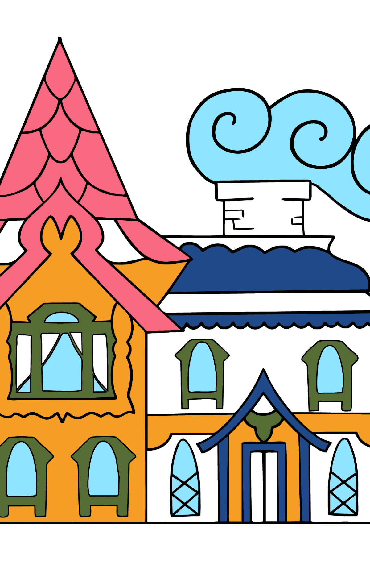 Simple Coloring Page - A House - A Kingdom of Storytellers - Coloring Pages for Kids