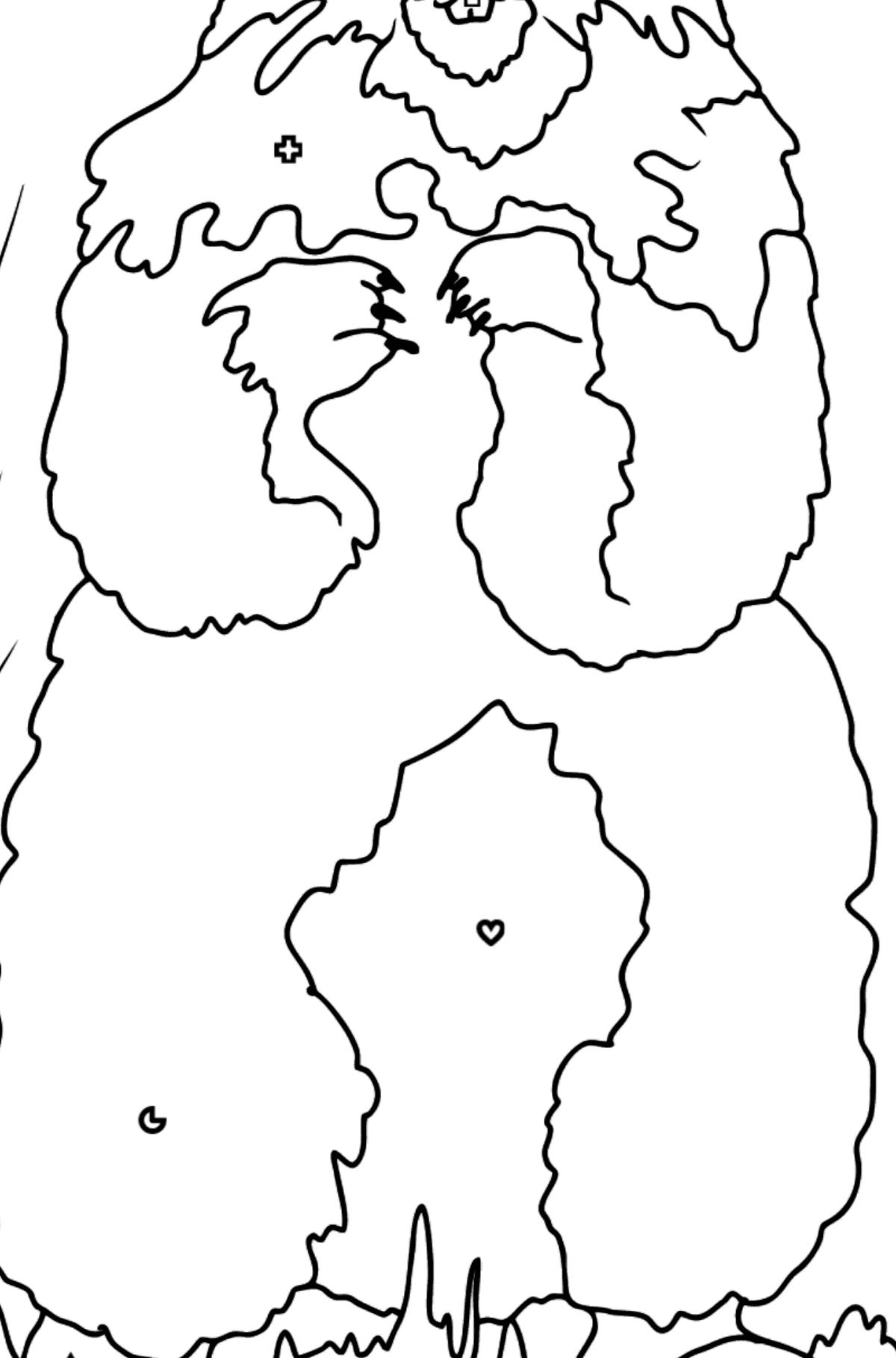 Coloring Page - A Groundhog is Looking Around - Coloring by Geometric Shapes for Kids