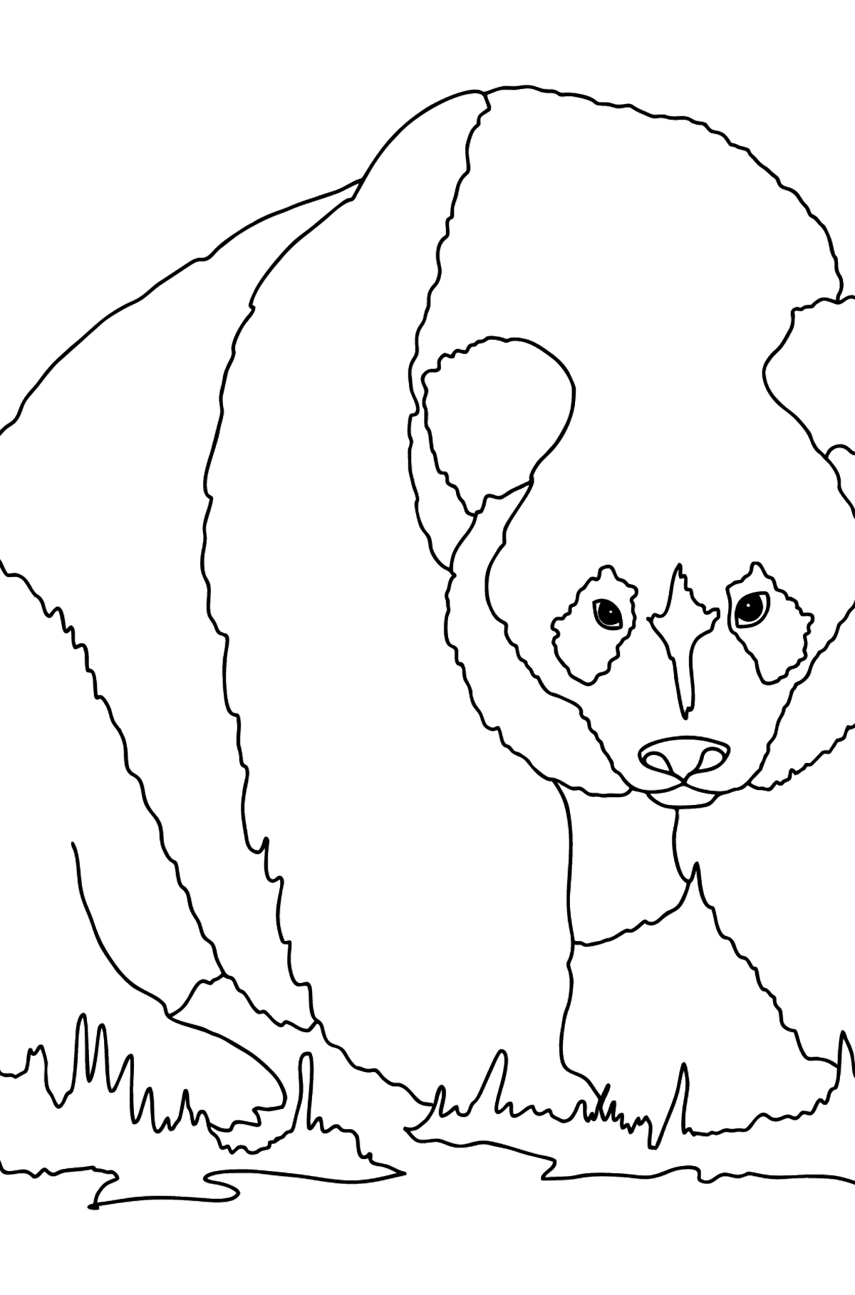 Coloring Page - A Panda is Preparing for Defense - Coloring Pages for Kids
