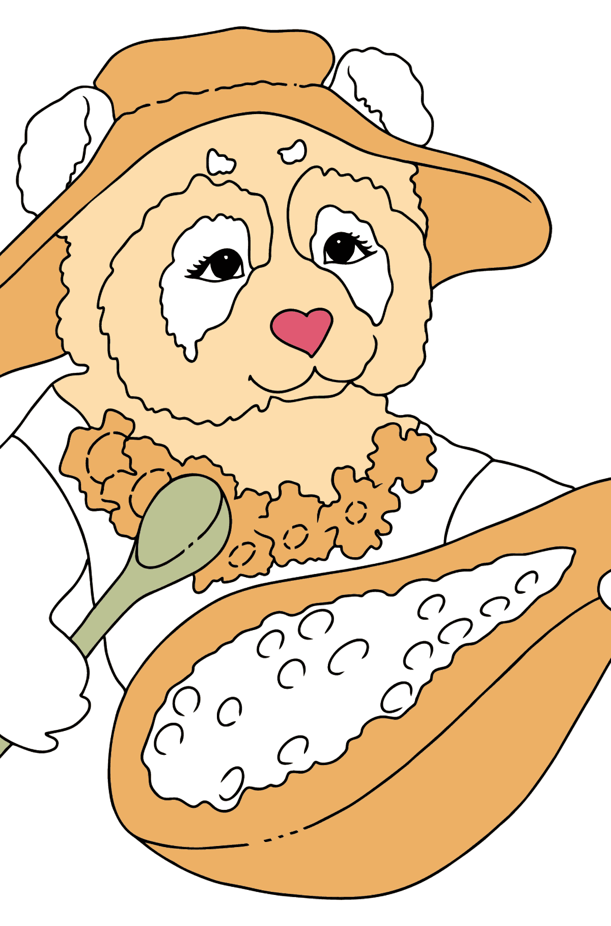 Coloring Page - A Panda is Having Lunch - Coloring Pages for Kids