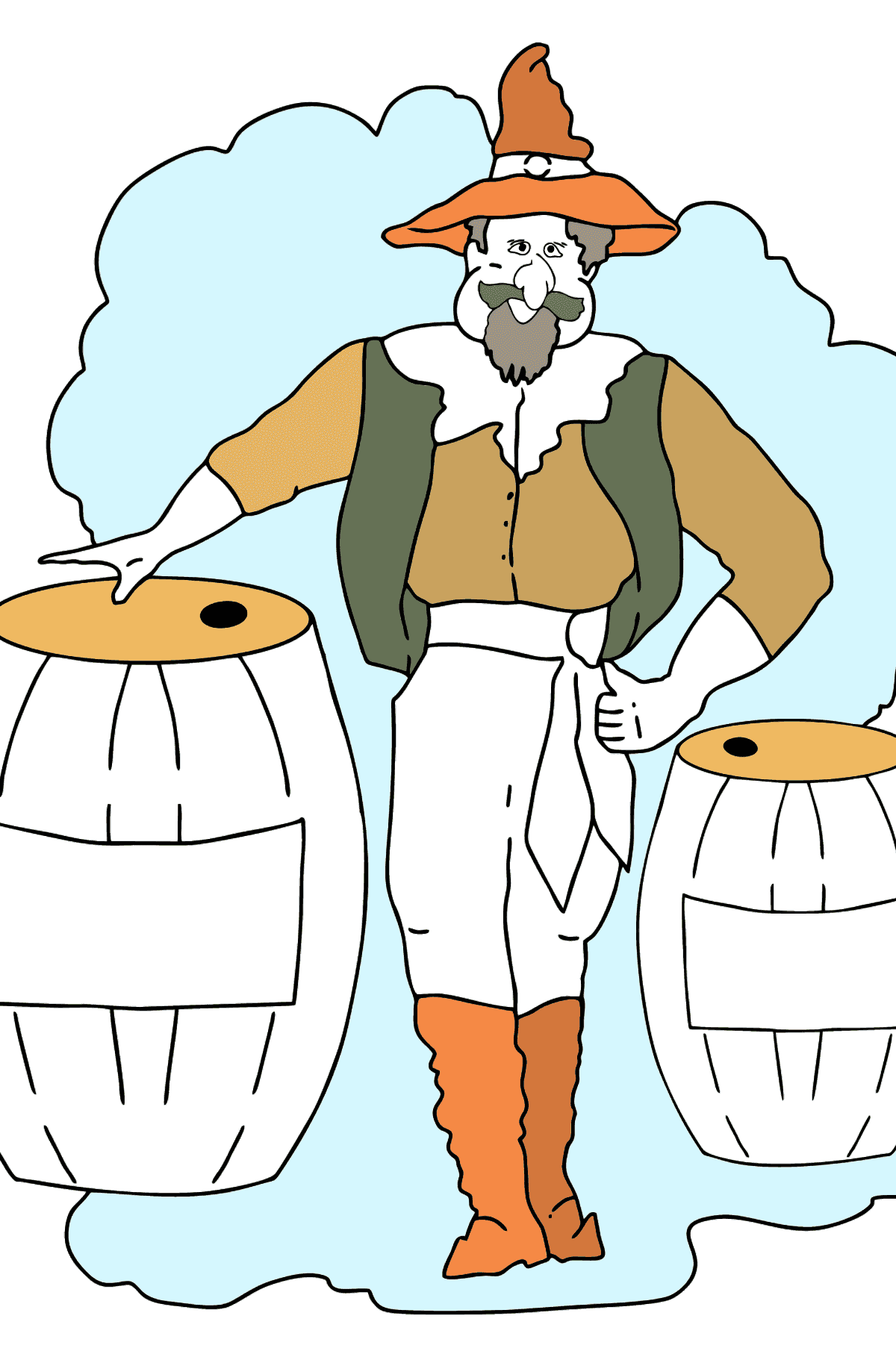 Coloring Page - A Pirate Loves Lemonade - Coloring Pages for Kids