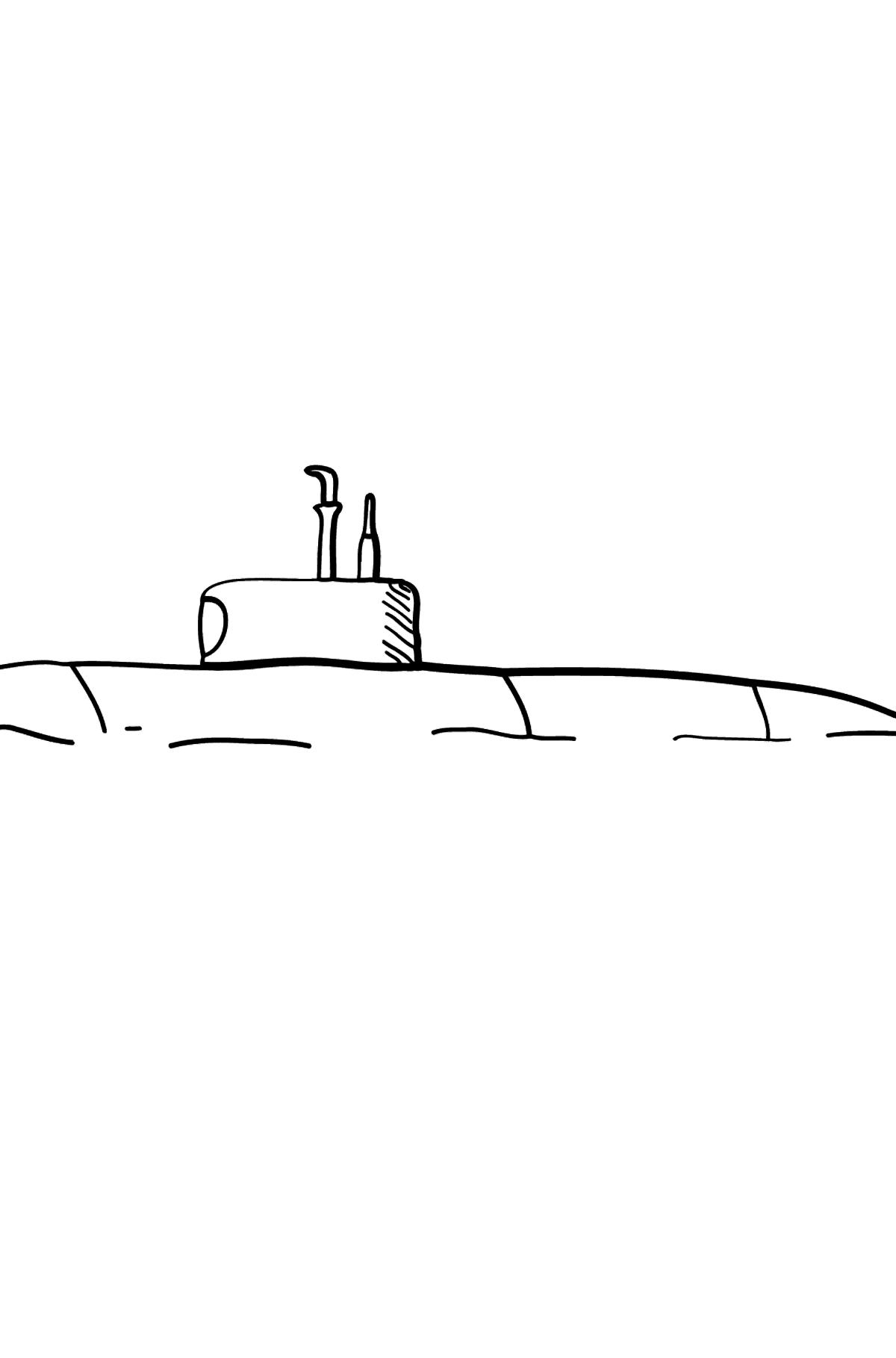 Раскраска подводная лодка - Раскраски для Детей