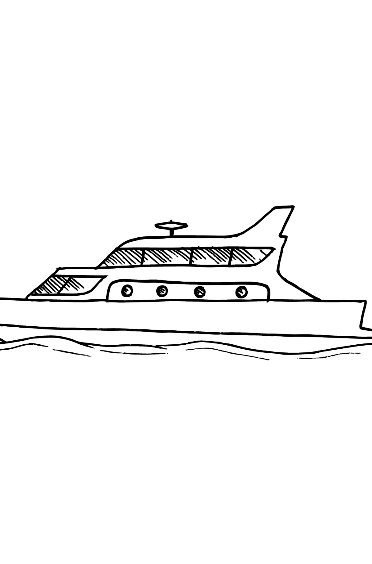 Coloring Page - A Yacht - Coloring Pages for Kids