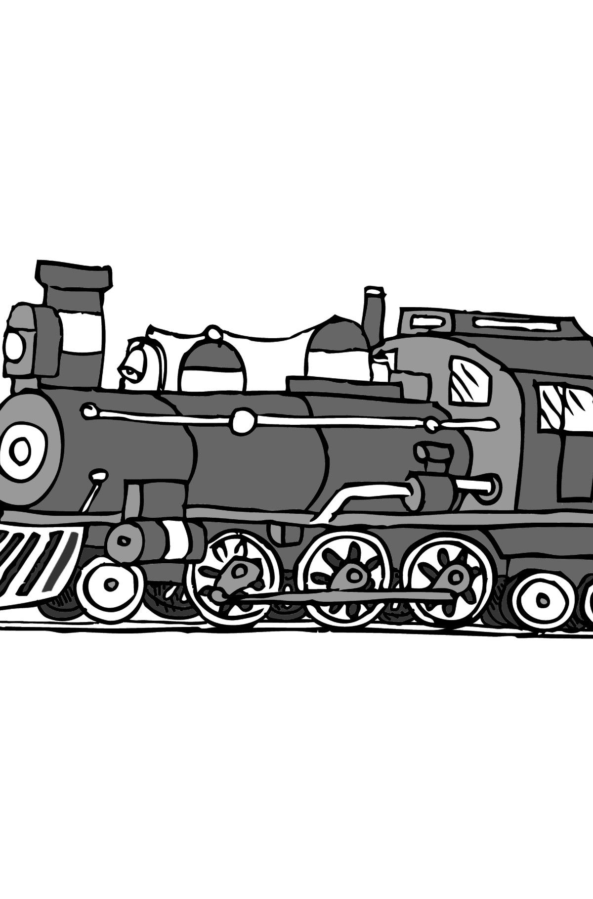 Coloring Page - A Locomotive - Coloring Pages for Kids