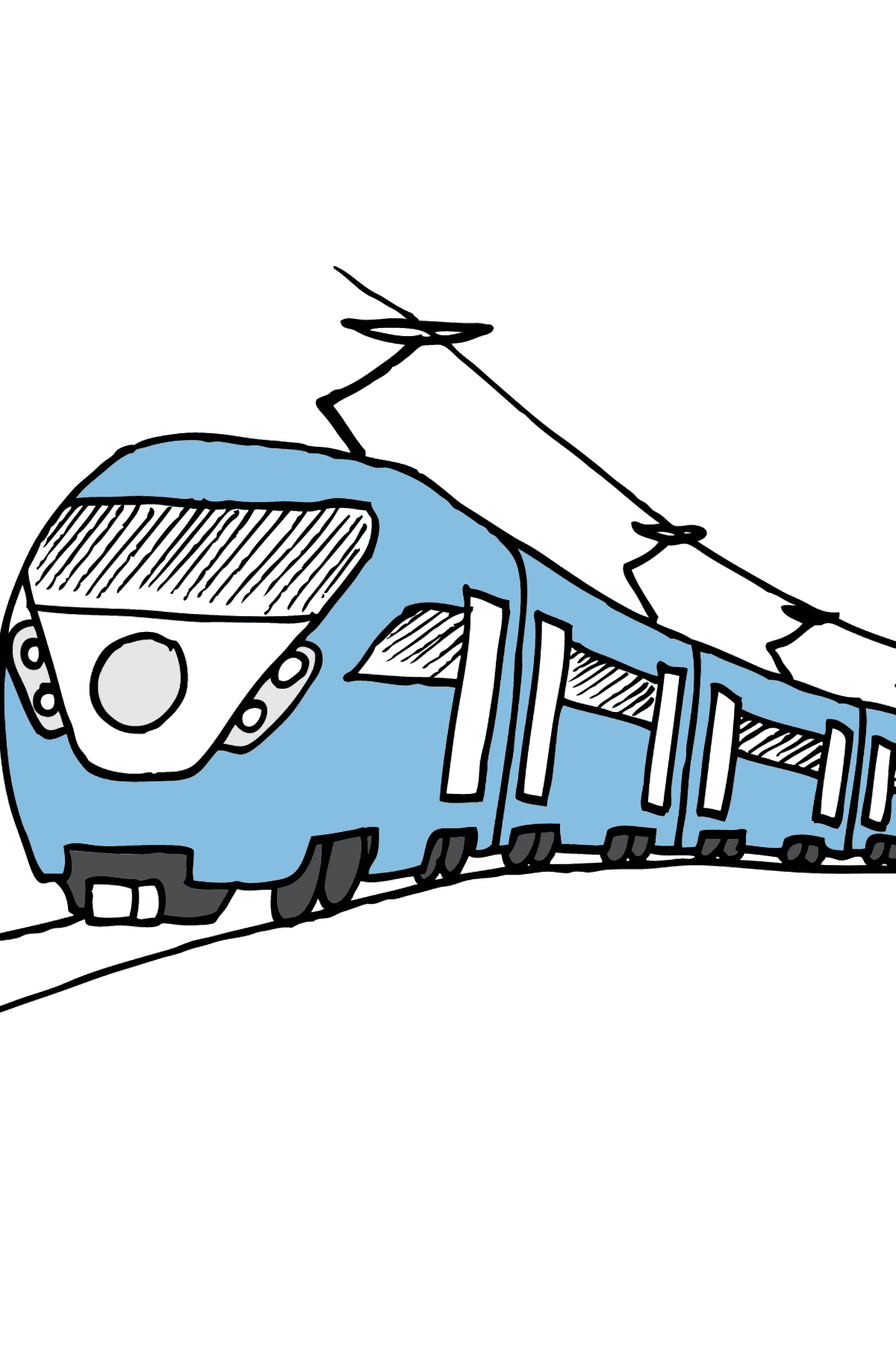 Coloring Page - A Passenger Train - Coloring Pages for Kids
