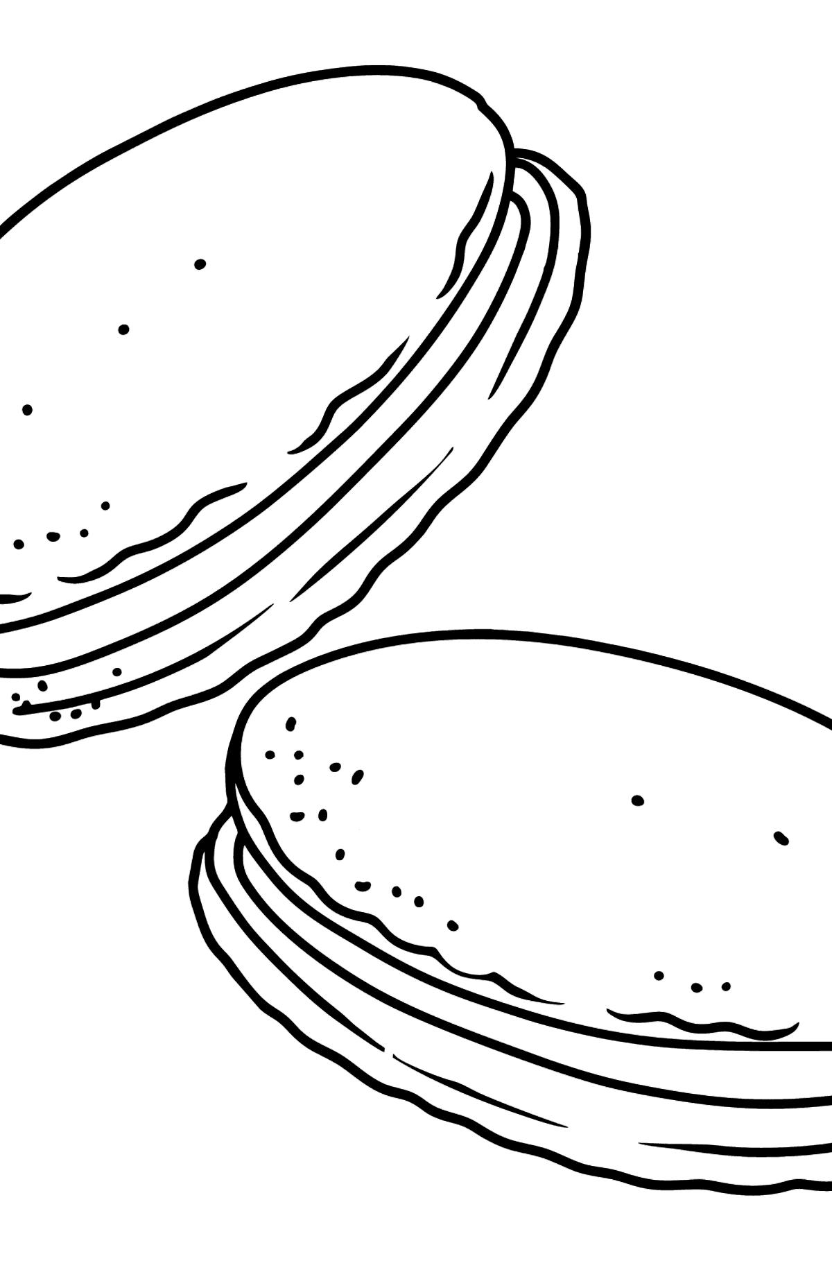 Kekse mit Sahne Ausmalbild - Malvorlagen für Kinder