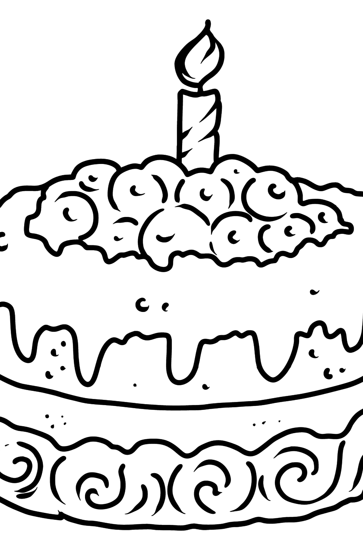 Blueberry Cake coloring page - Coloring Pages for Kids