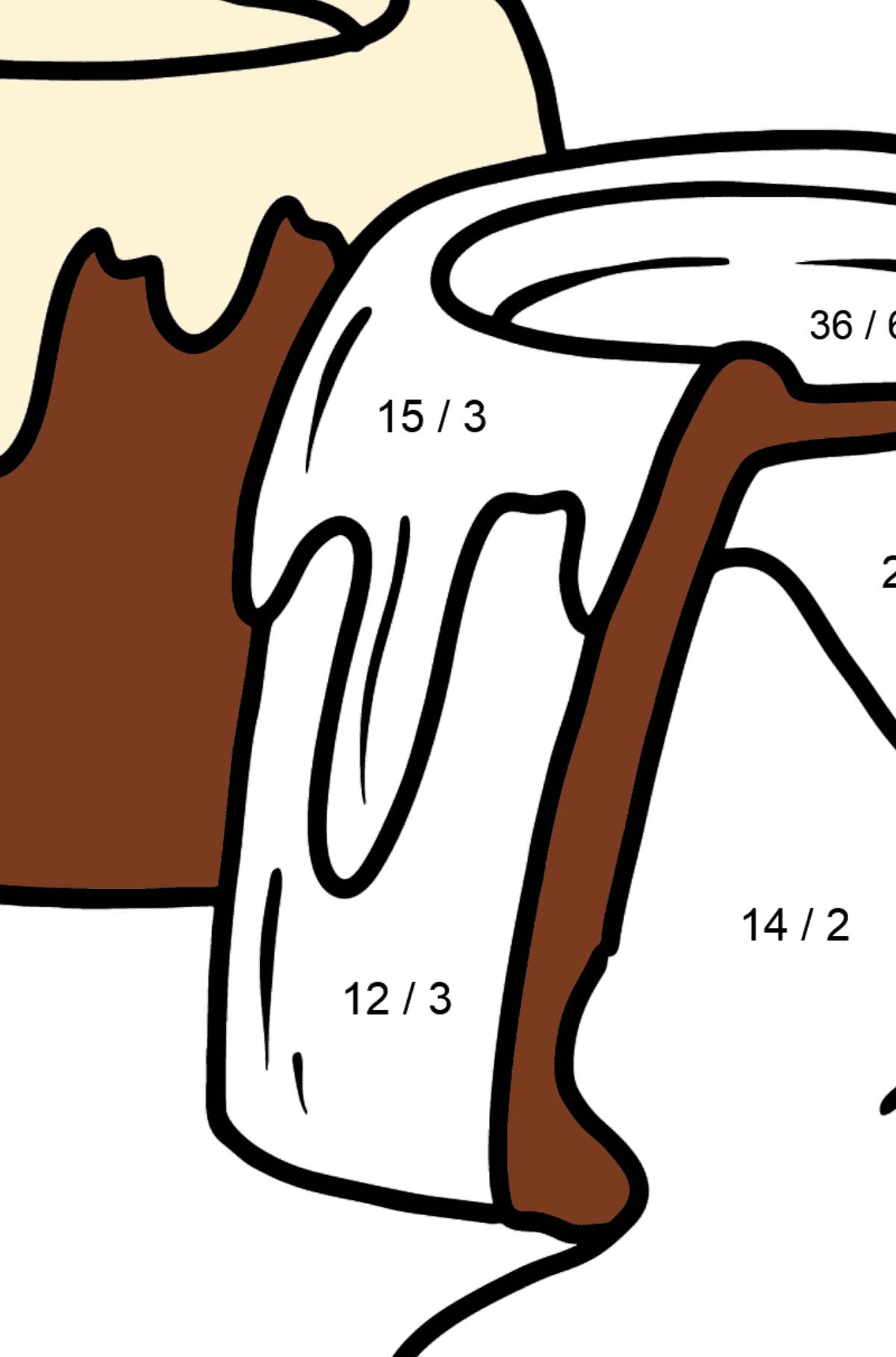 Раскраска конфеты - Математическая Раскраска - Деление для Детей