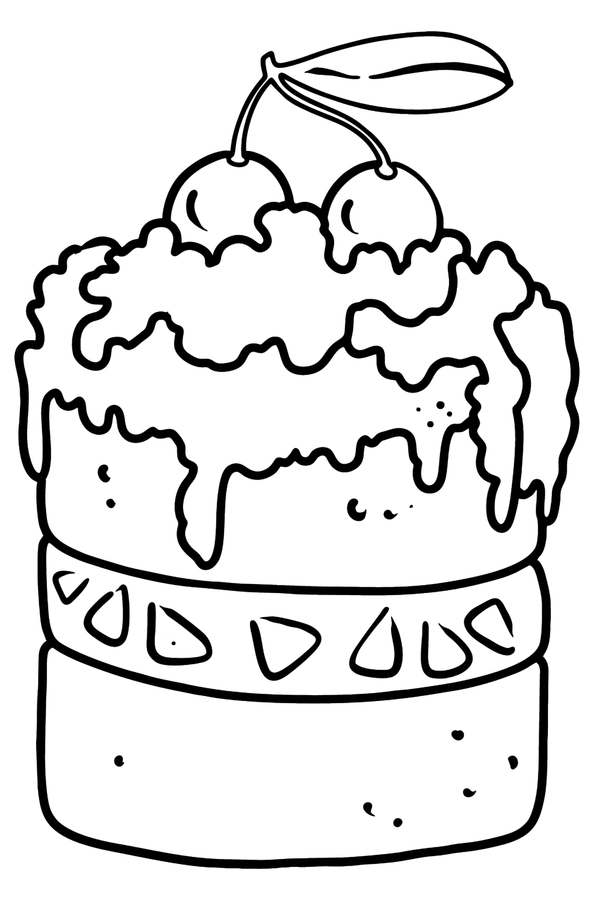 Cherry Cake coloring page - Coloring Pages for Kids