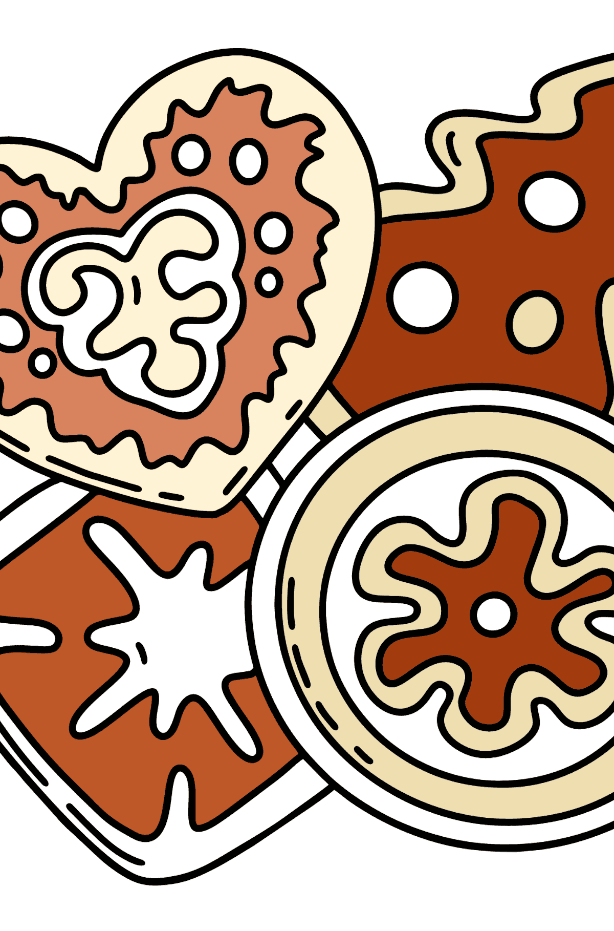 Christmas Cookies coloring page - Coloring Pages for Kids