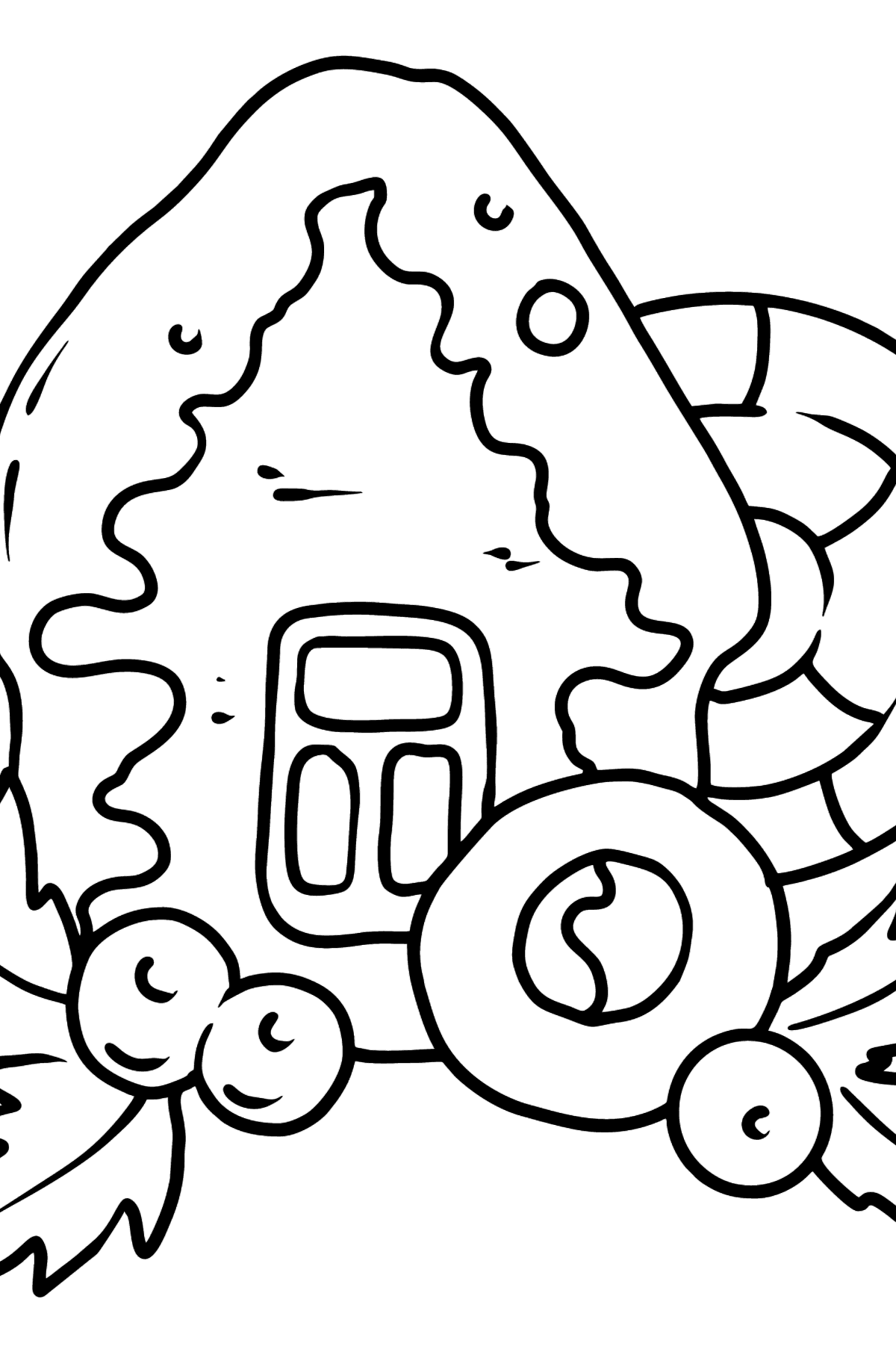 Christmas Gingerbread House coloring page - Coloring Pages for Kids