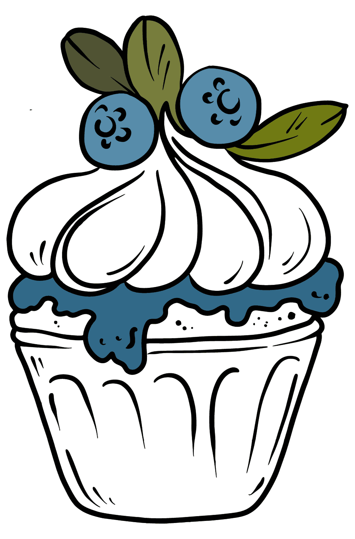 Delicious Cupcake coloring page - Coloring Pages for Kids