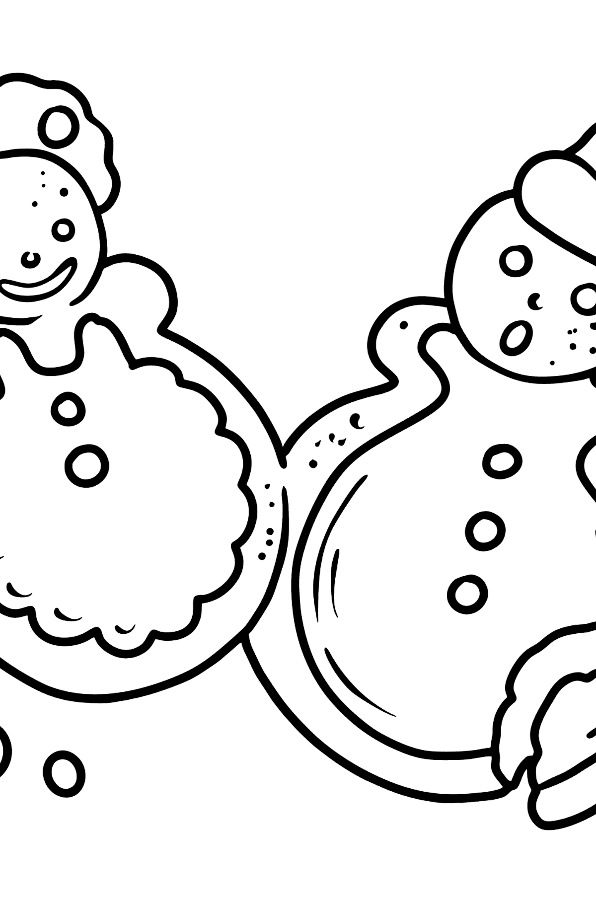 Gingerbread coloring page - Coloring Pages for Kids