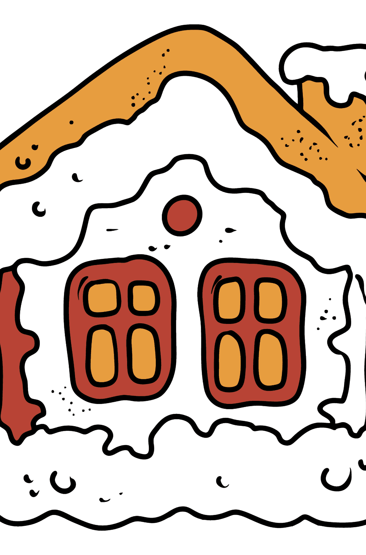 Gingerbread House coloring page - Coloring Pages for Kids