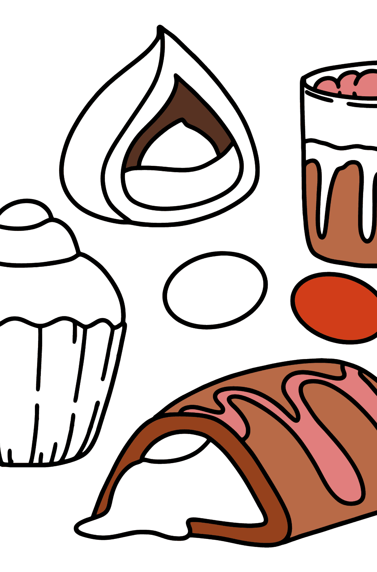 Yummy coloring page - Coloring Pages for Kids