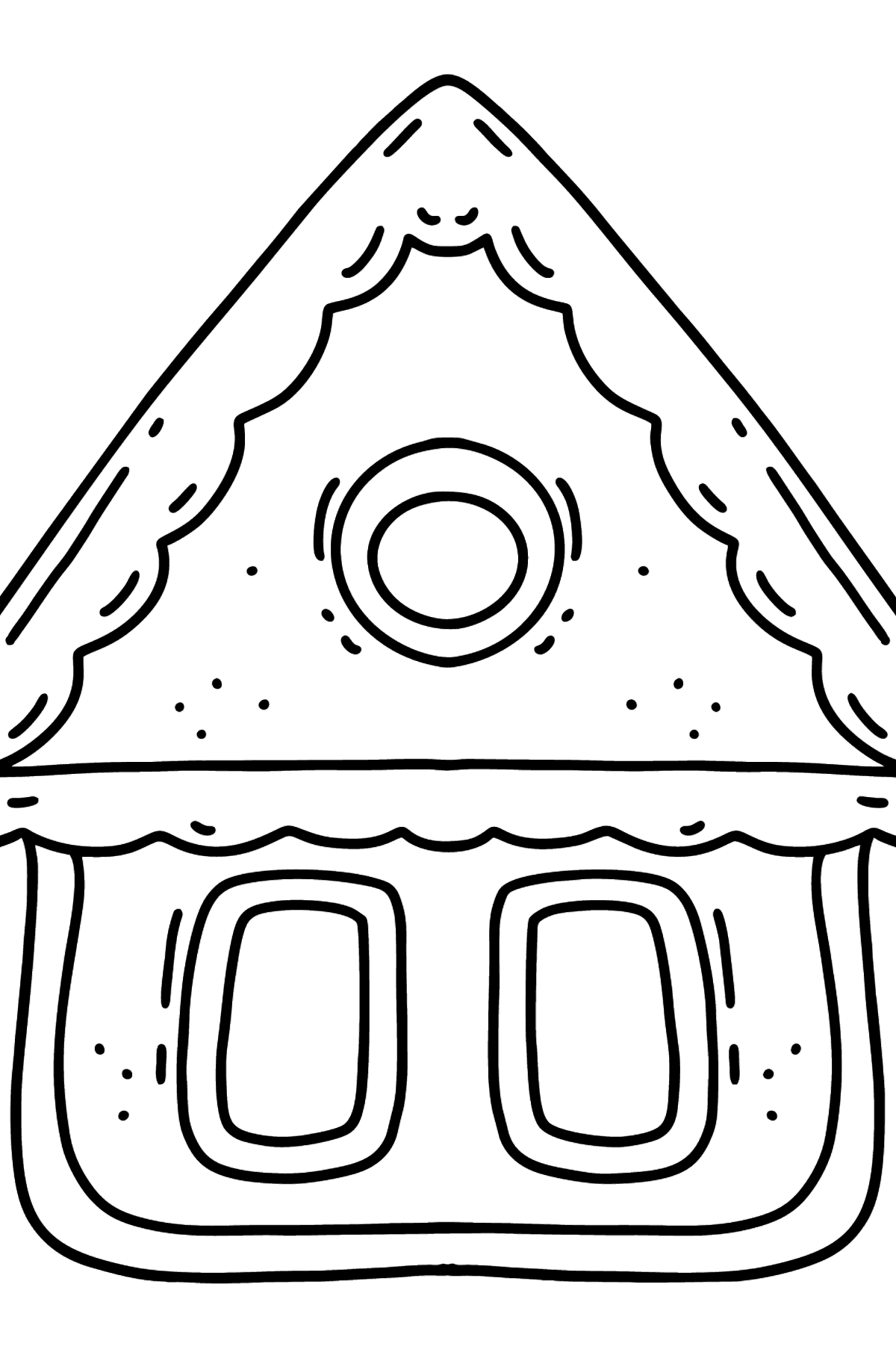 Little Gingerbread House coloring page - Coloring Pages for Kids