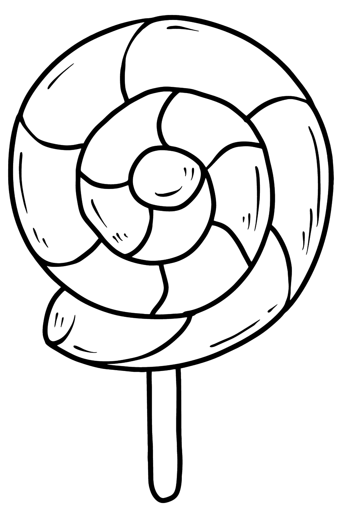Lolipop coloring page - Coloring Pages for Kids