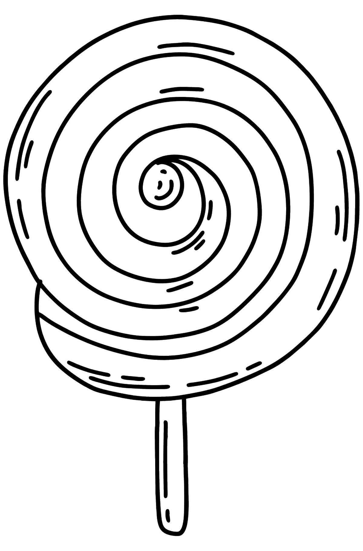 Lollipop auf einem Stick Ausmalbild - Malvorlagen für Kinder