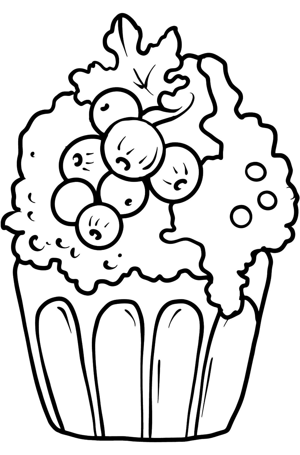 Kuchen mit Johannisbeeren Ausmalbild - Malvorlagen für Kinder