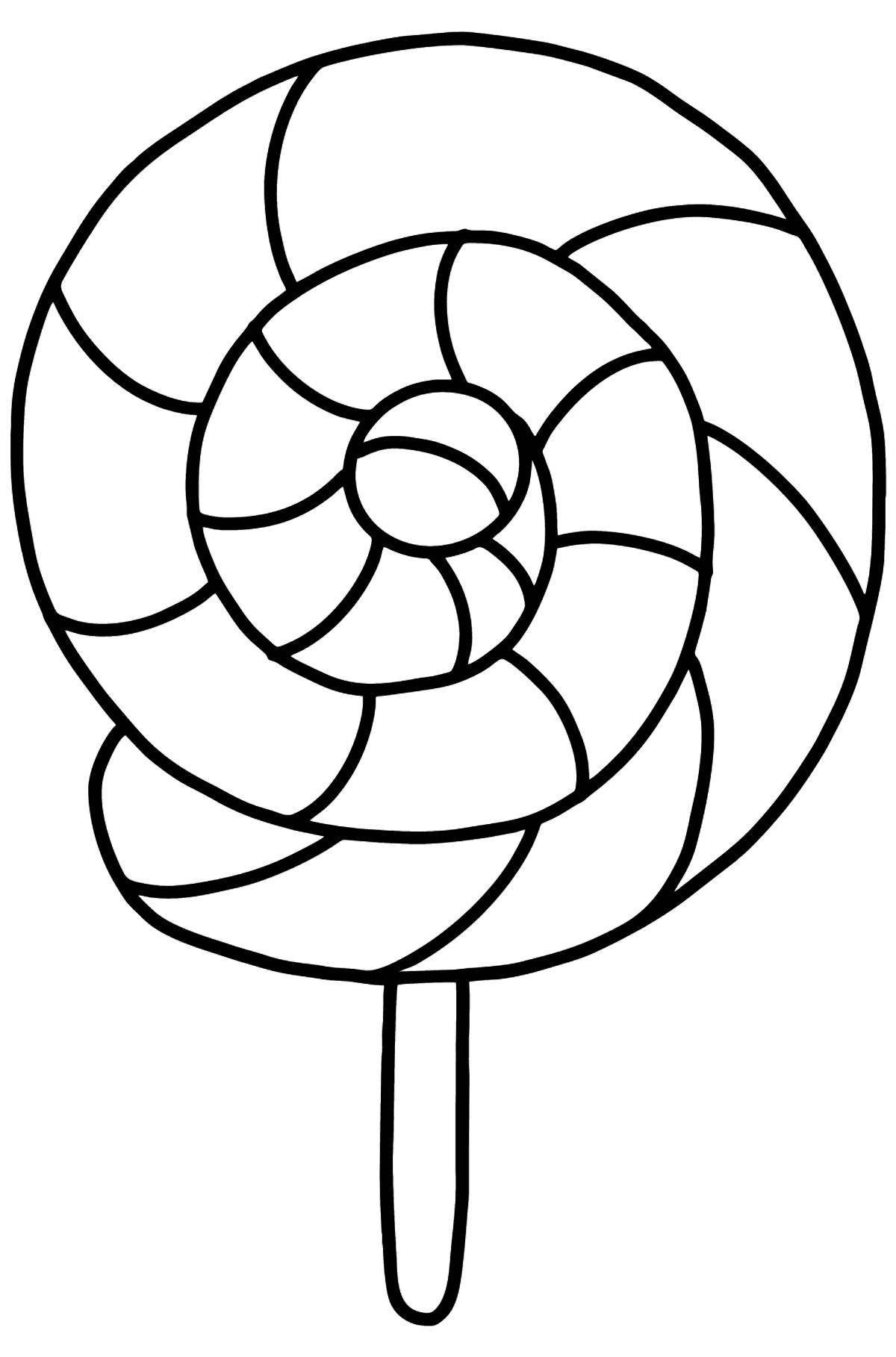 Bunte Lollipop Ausmalbild - Malvorlagen für Kinder
