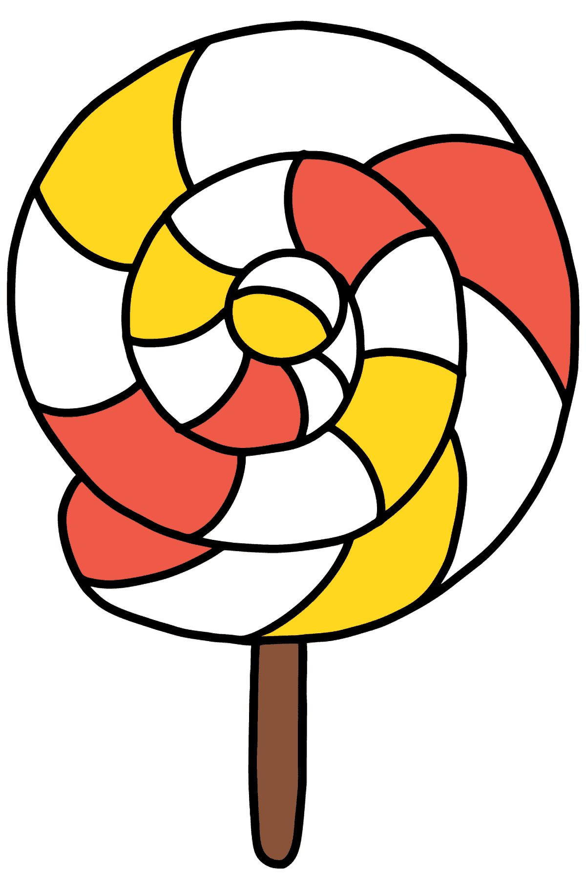 Colorful Lollipop coloring page - Coloring Pages for Kids