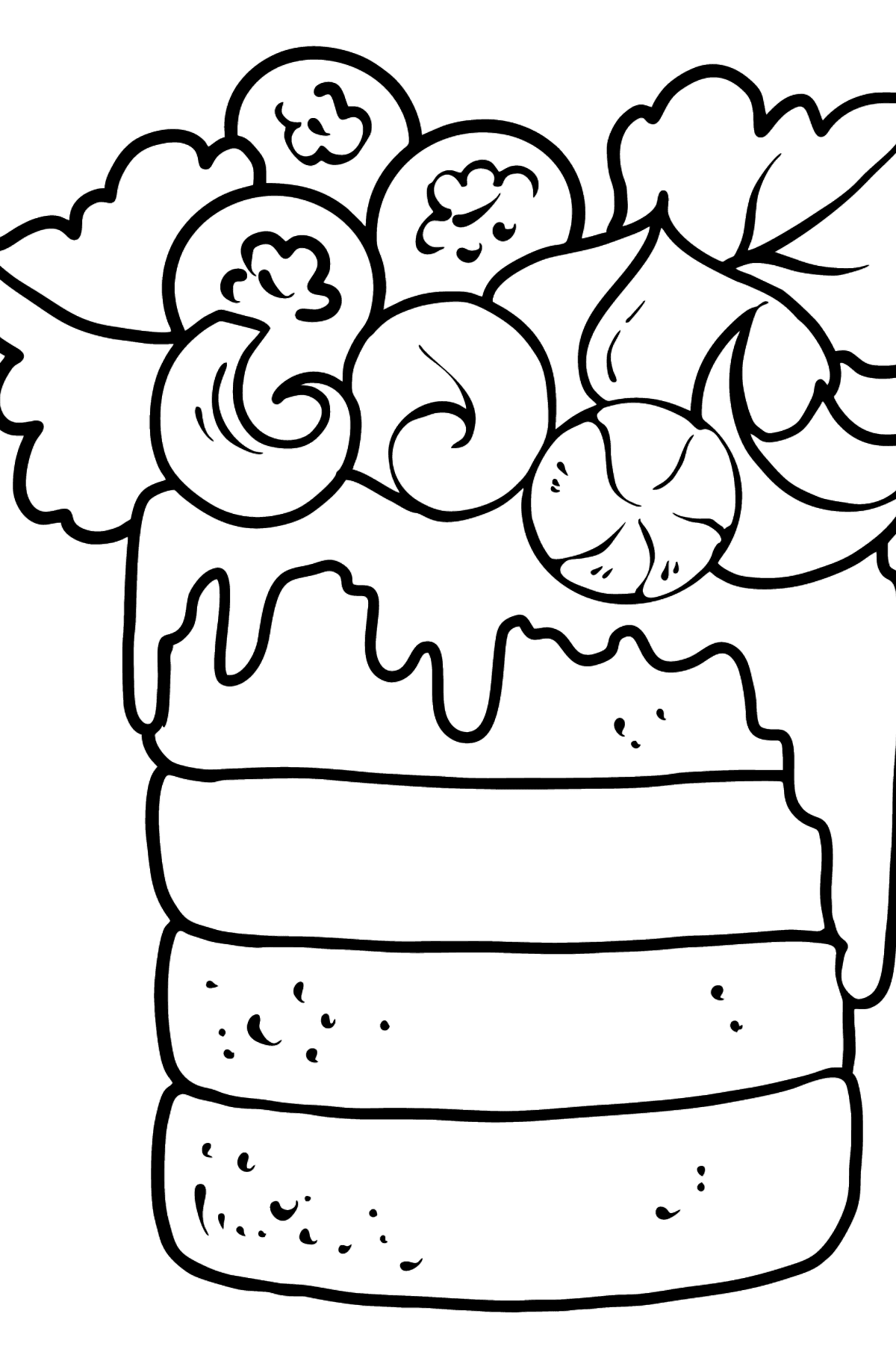 Cake coloring page - Coloring Pages for Kids