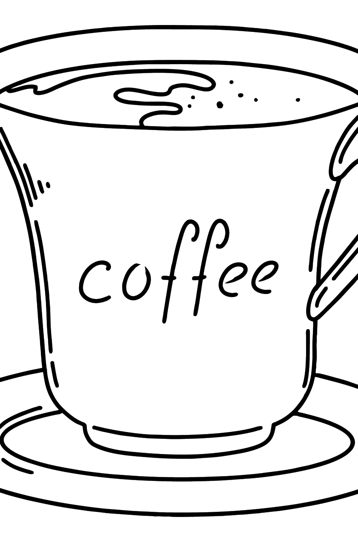 Coffee coloring page - Coloring Pages for Kids