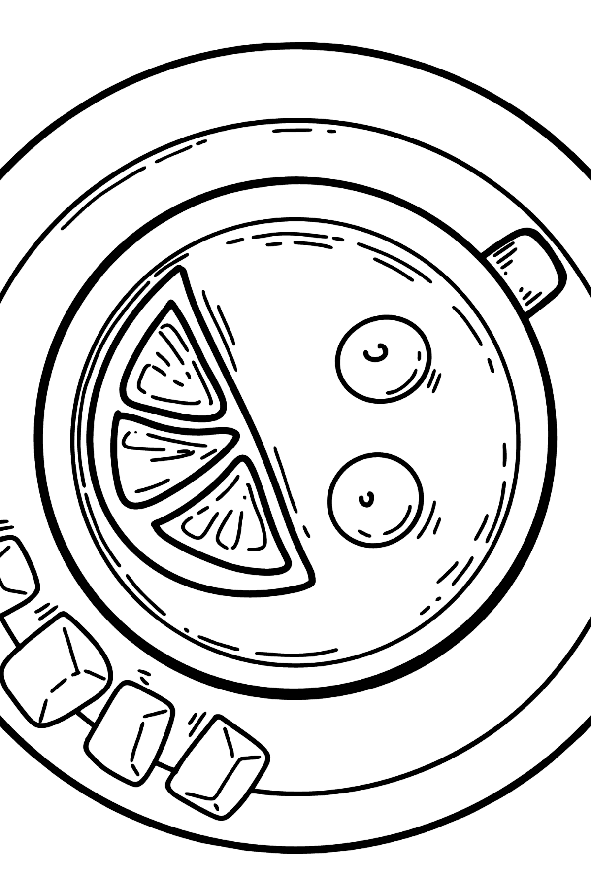 Coloring page - cup of tea - Coloring Pages for Kids