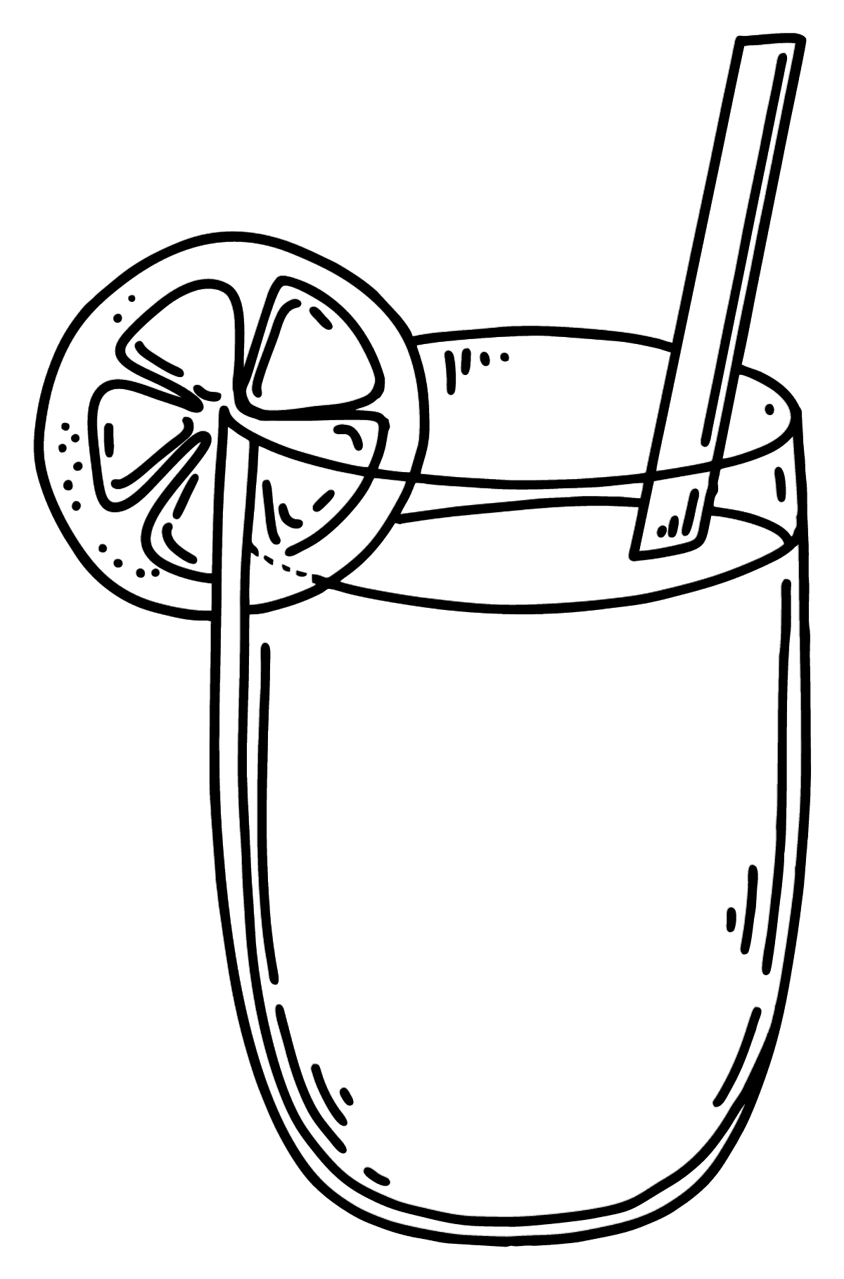 Coloring page - glass of juice - Coloring Pages for Kids