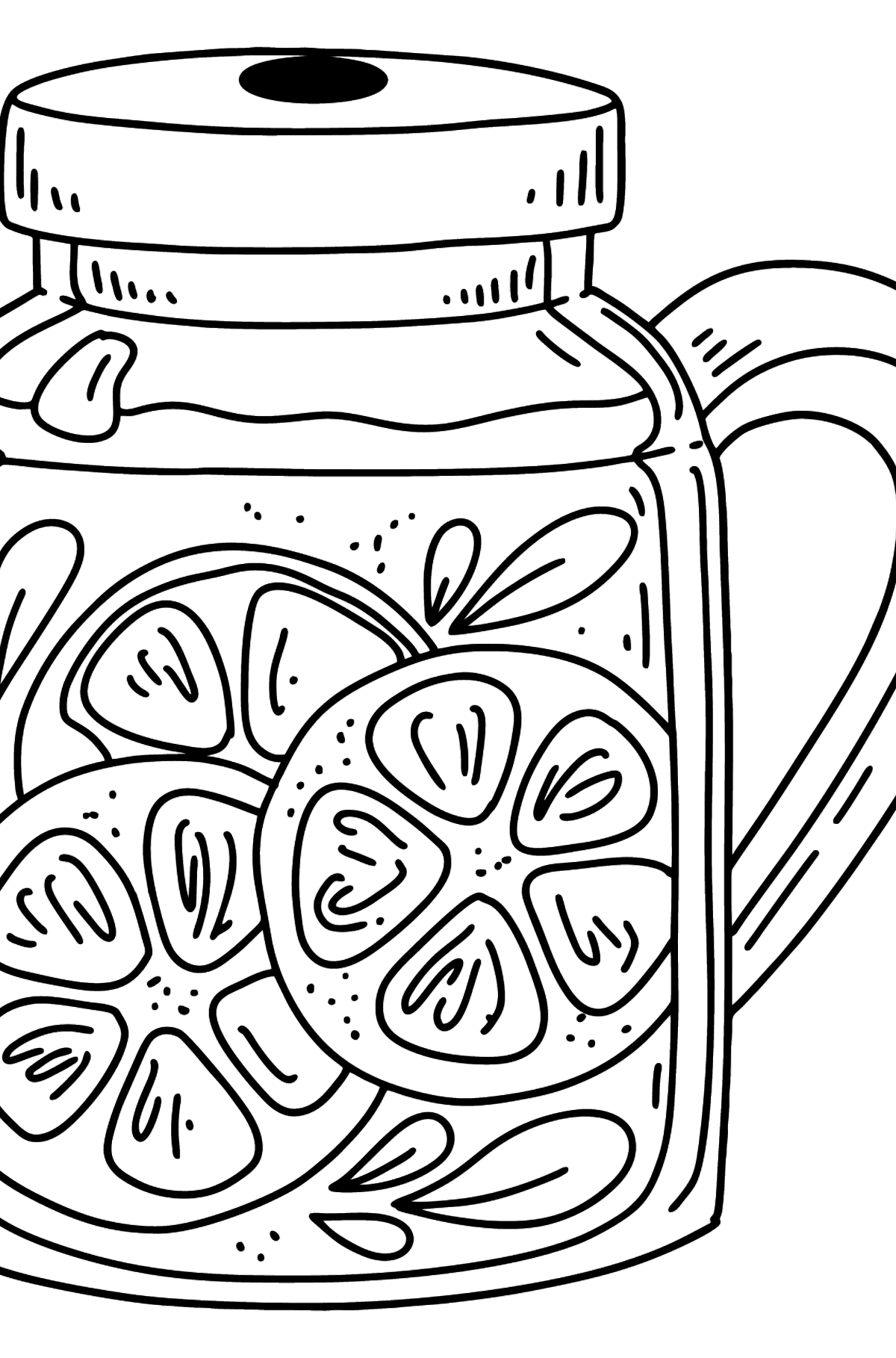 Delicious Lemonade coloring page - Coloring Pages for Kids