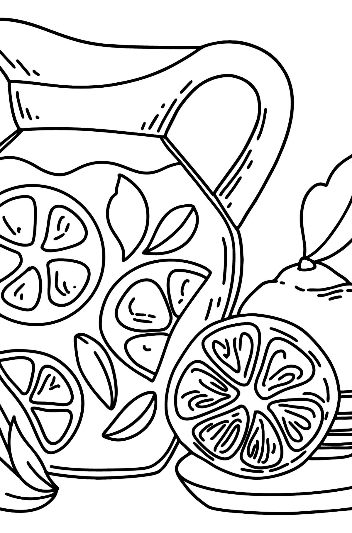 Раскраска Лимонад в кувшине - Картинки для Детей
