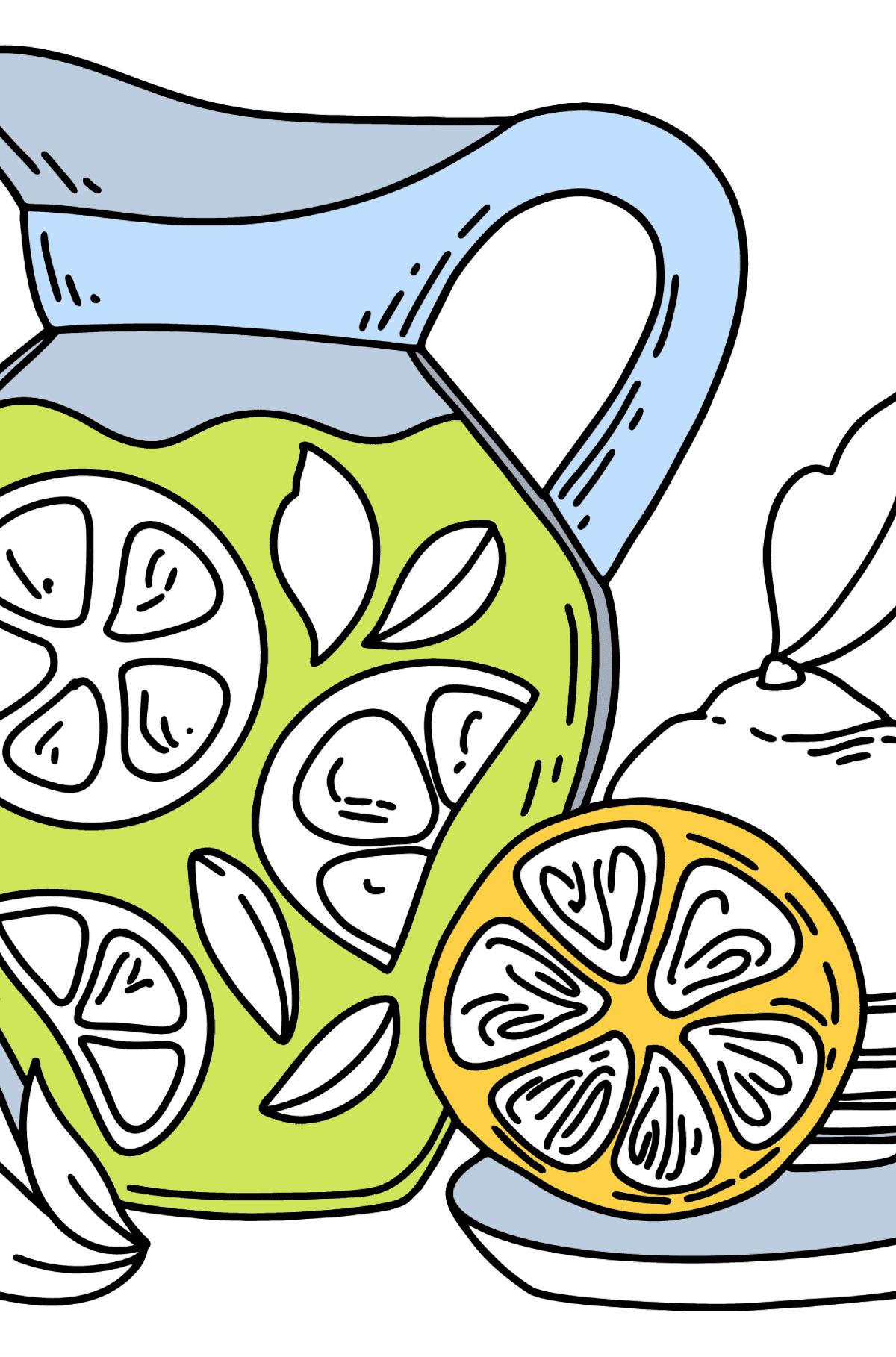 Desenho para colorir Limonada em um Jarro - Imagens para Colorir para Crianças