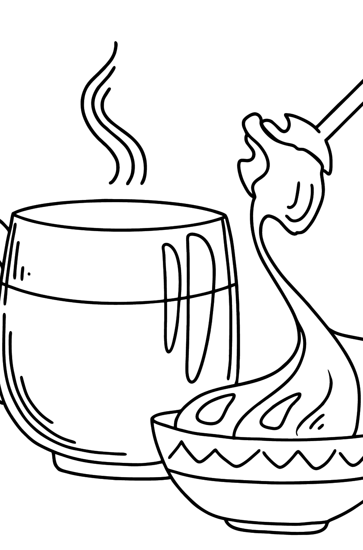 Milk with Honey coloring page - Coloring Pages for Kids