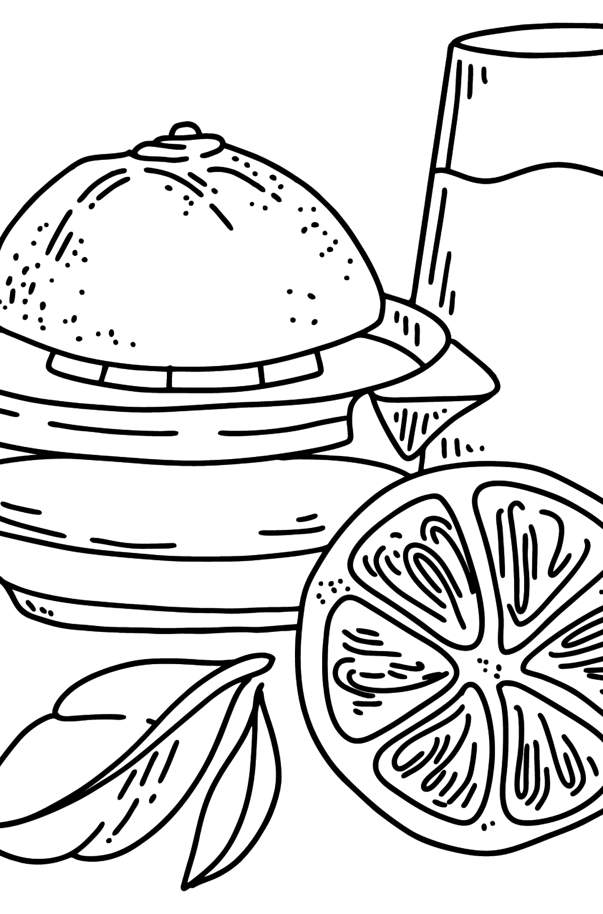 Orange Juice coloring page - Coloring Pages for Kids