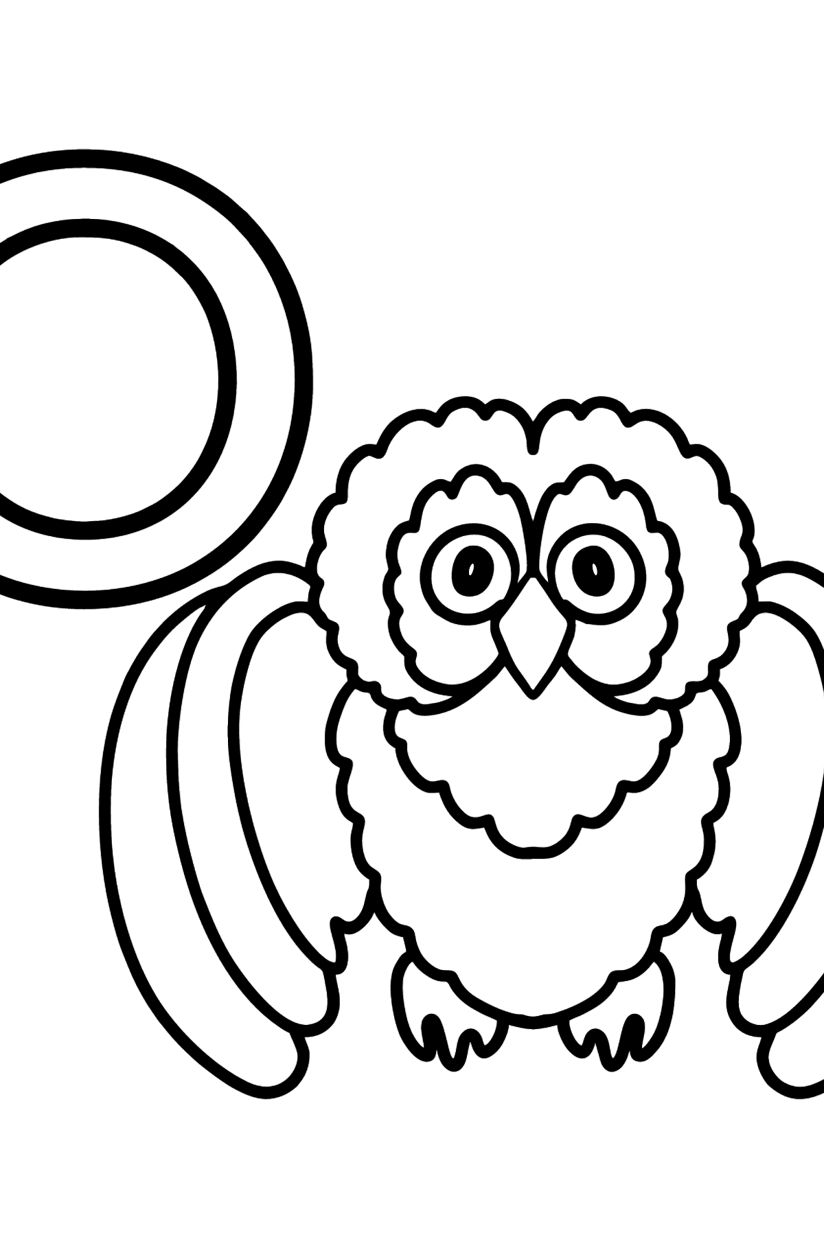 English Letter O coloring pages - OWL - Coloring Pages for Kids