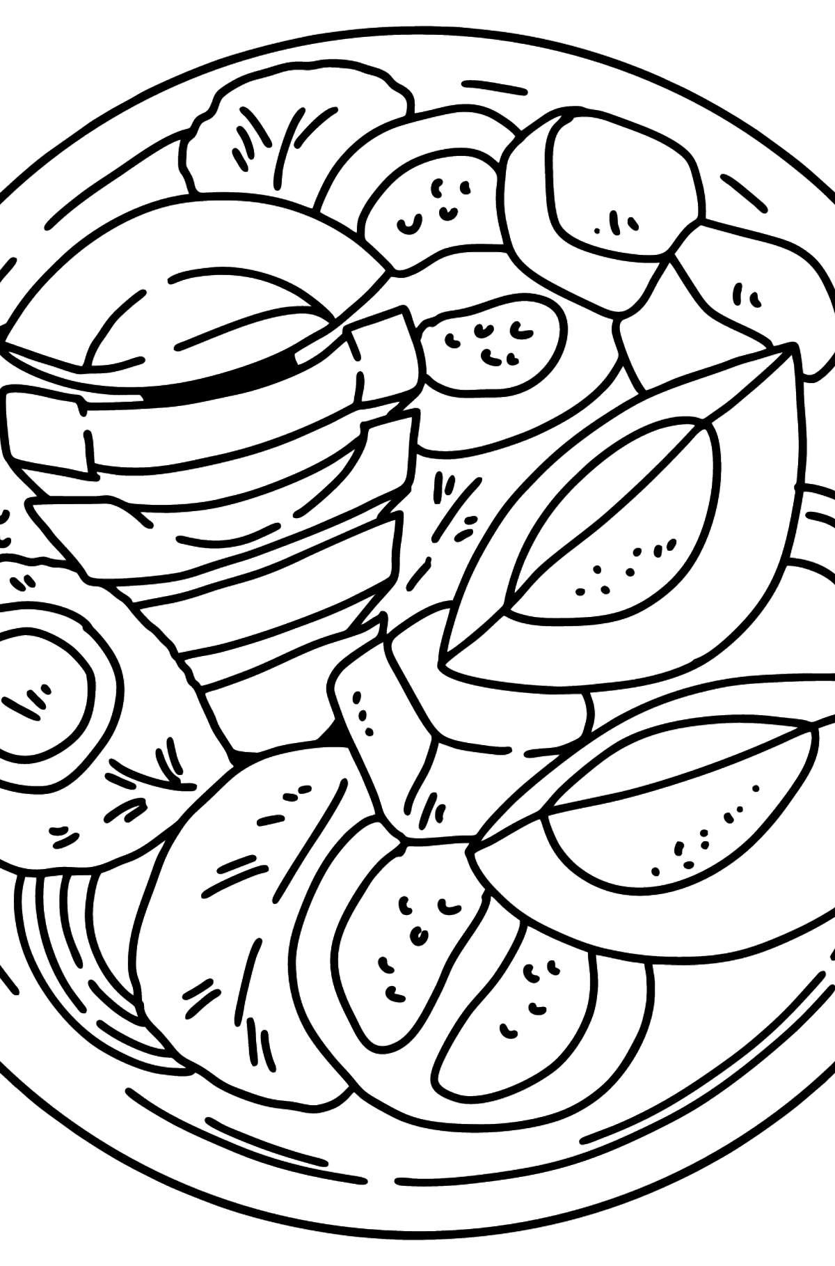 Avocado Salad coloring page - Coloring Pages for Kids