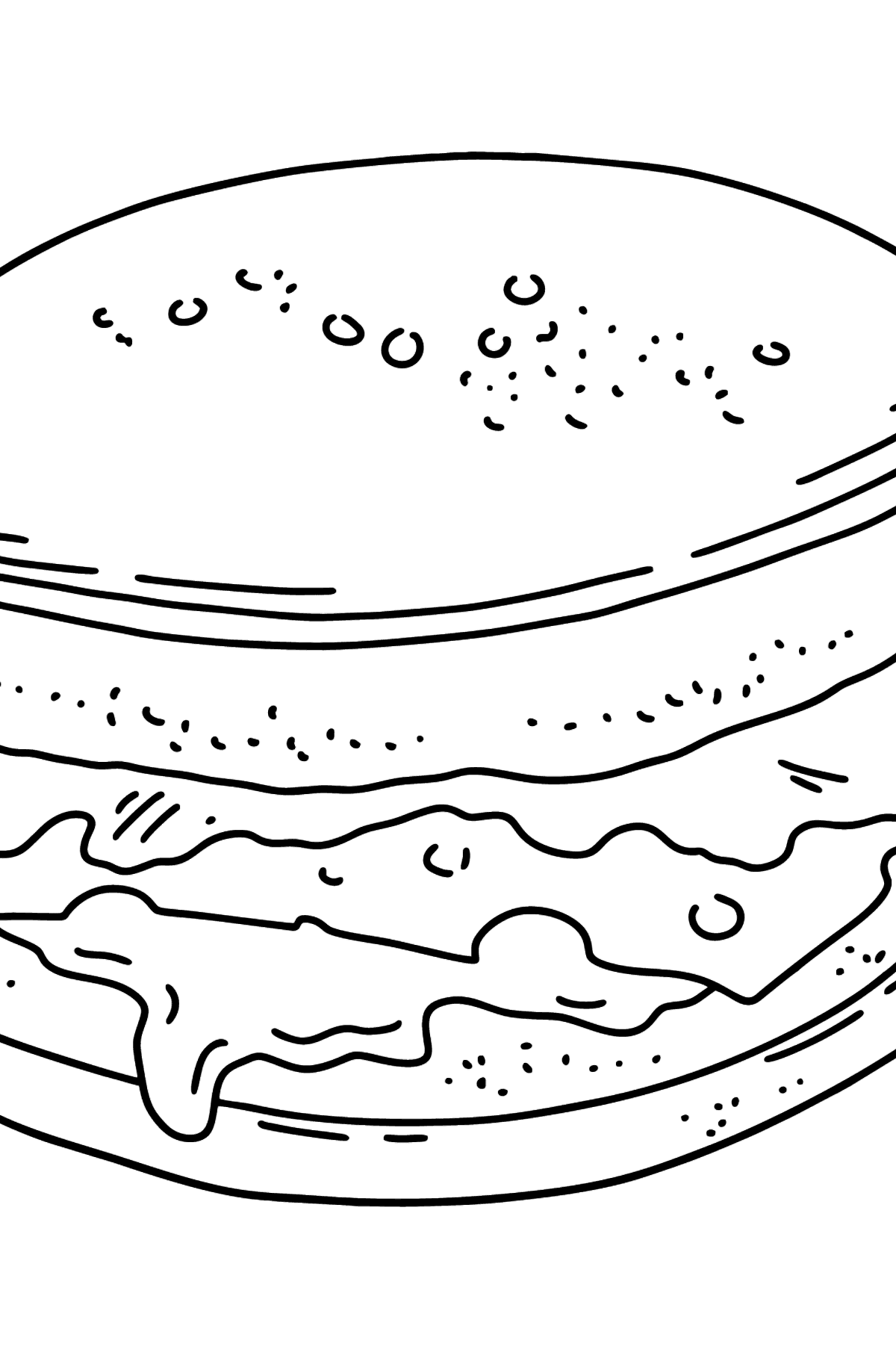 Hamburger coloring page - Coloring Pages for Kids