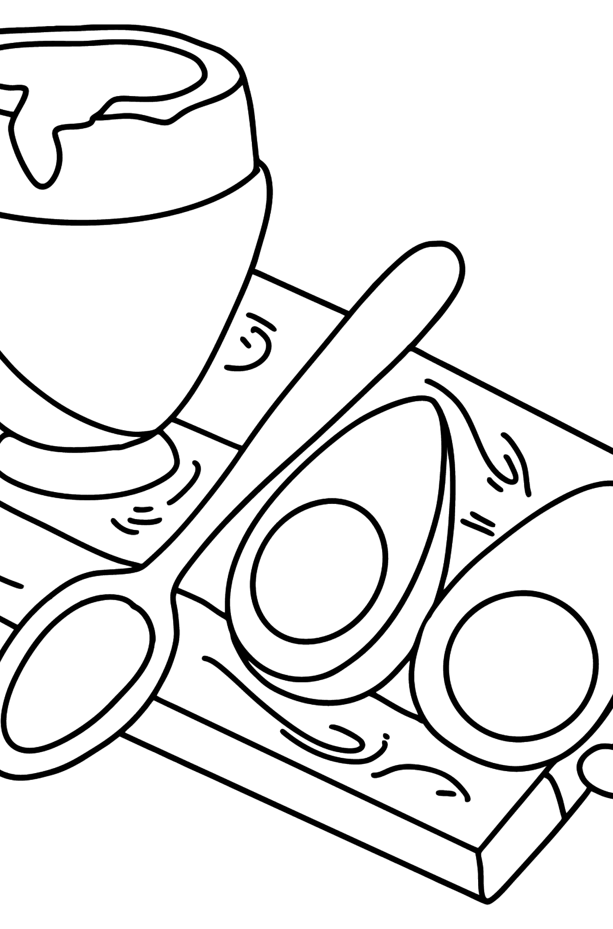 Hard-Boiled Egg and Poached Egg coloring page - Coloring Pages for Kids