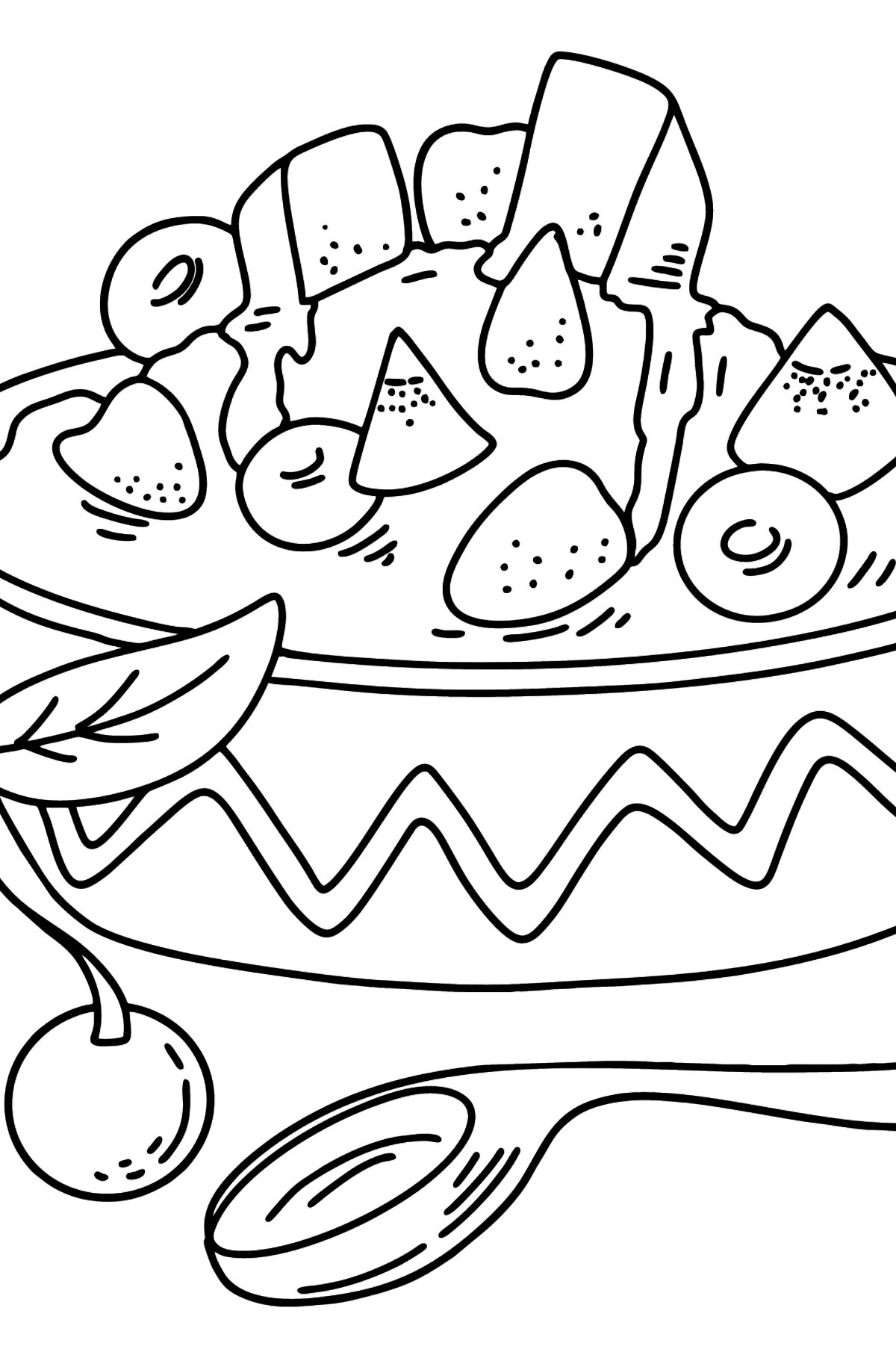 Porridge with Berries and Butter coloring page - Coloring Pages for Kids