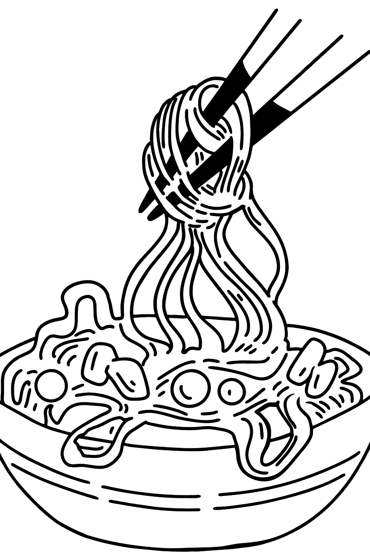 Ramen coloring page - Coloring Pages for Kids