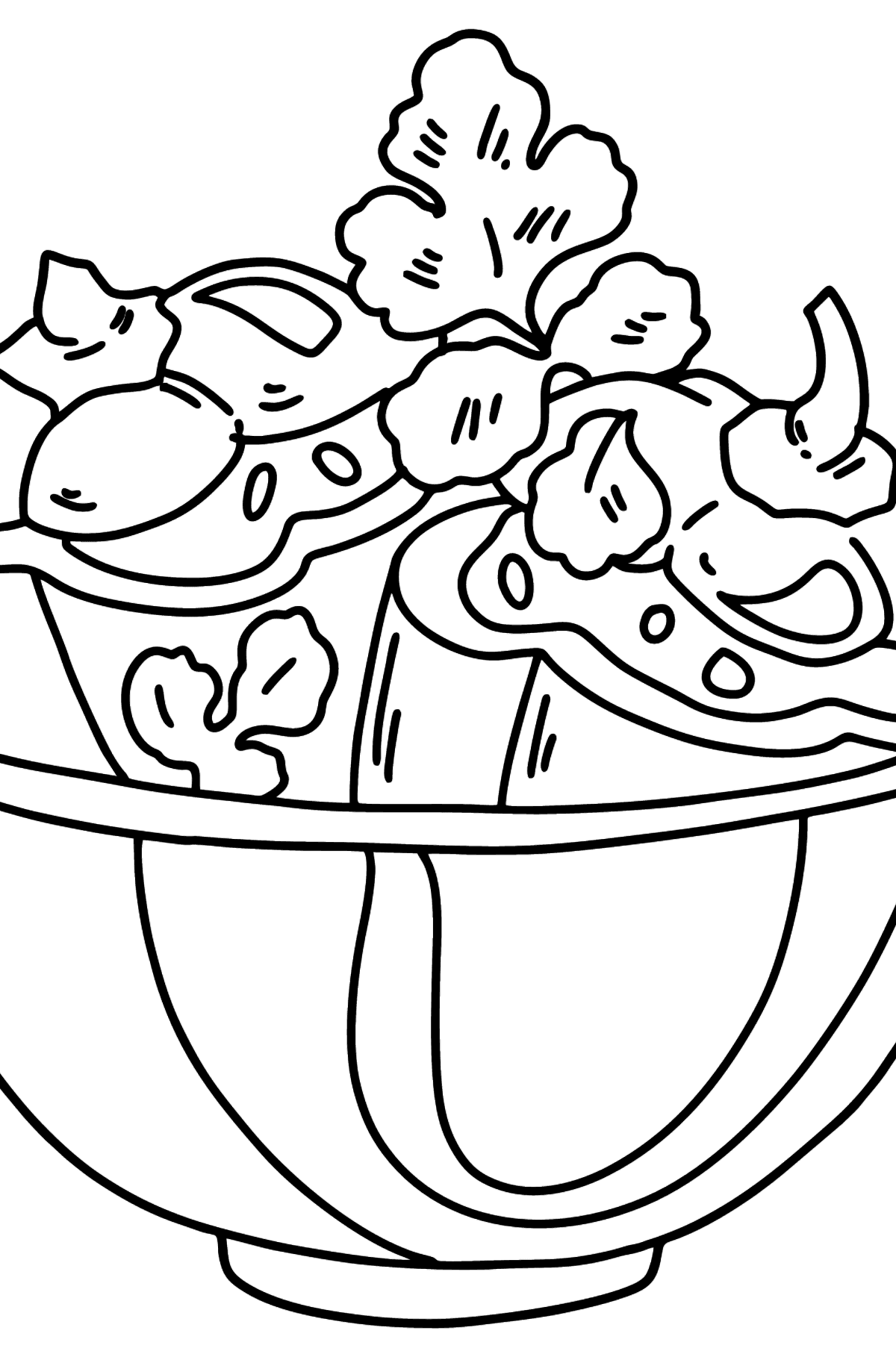 Coloring page lunch - stuffed peppers - Coloring Pages for Kids