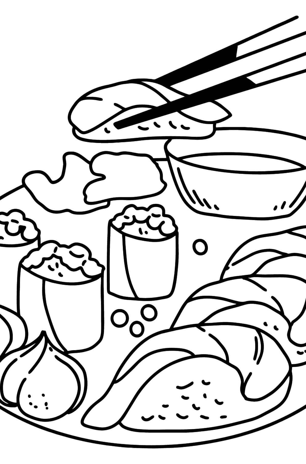 Sushi coloring page - Coloring Pages for Kids