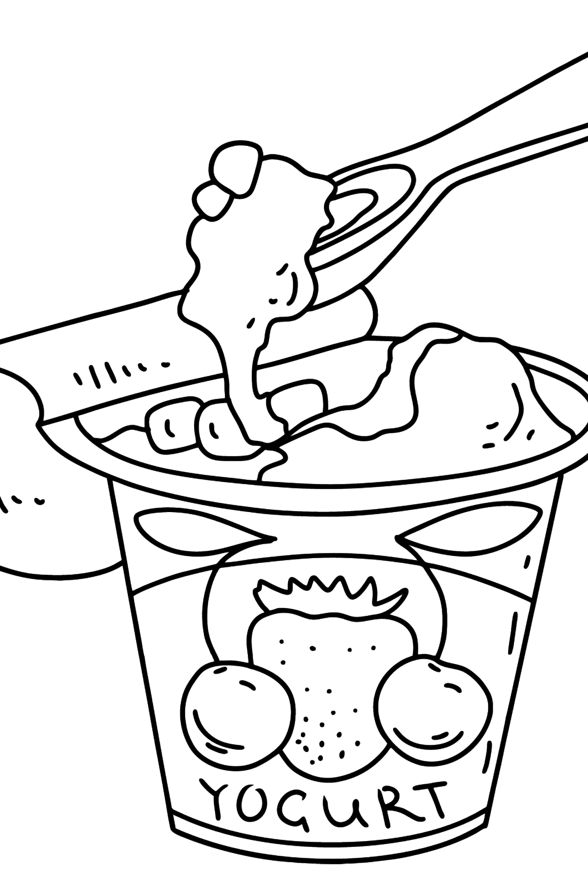 Yogurt with Berries coloring page - Coloring Pages for Kids