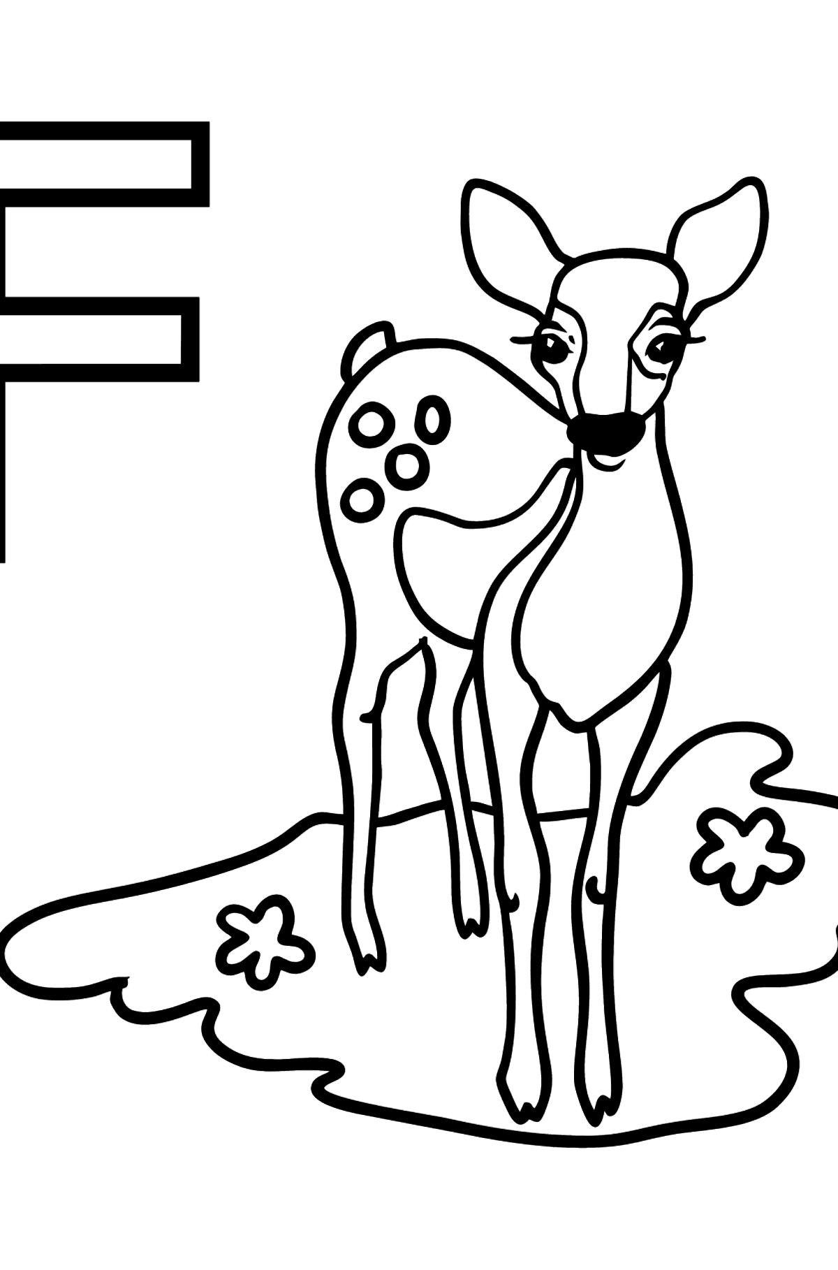 French Letter F coloring pages - FAON - Coloring Pages for Kids