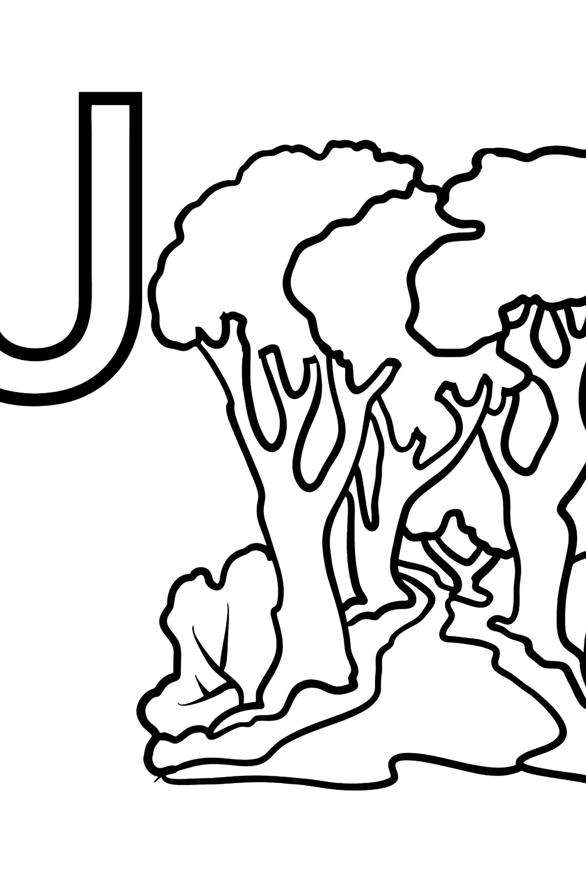 French Letter J coloring pages - JARDIN - Coloring Pages for Kids