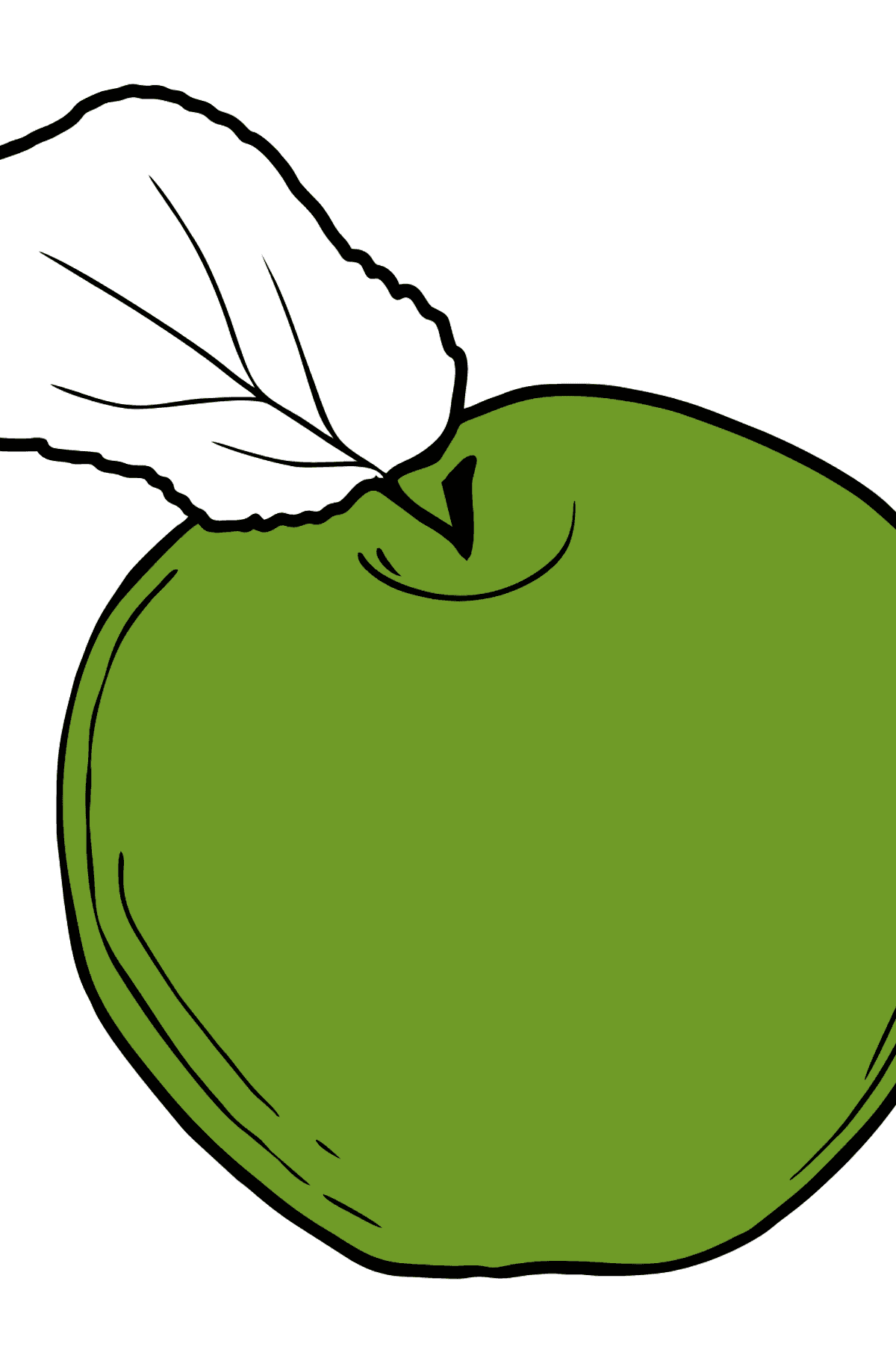 Apple coloring page - Coloring Pages for Kids